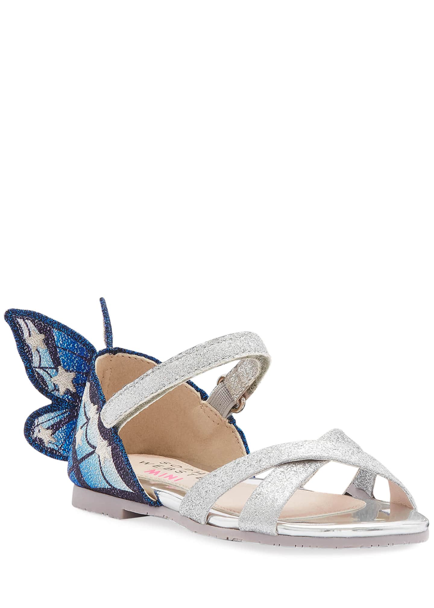 Sophia Webster Chiara Fine Glitter Embroidered Butterfly Wing