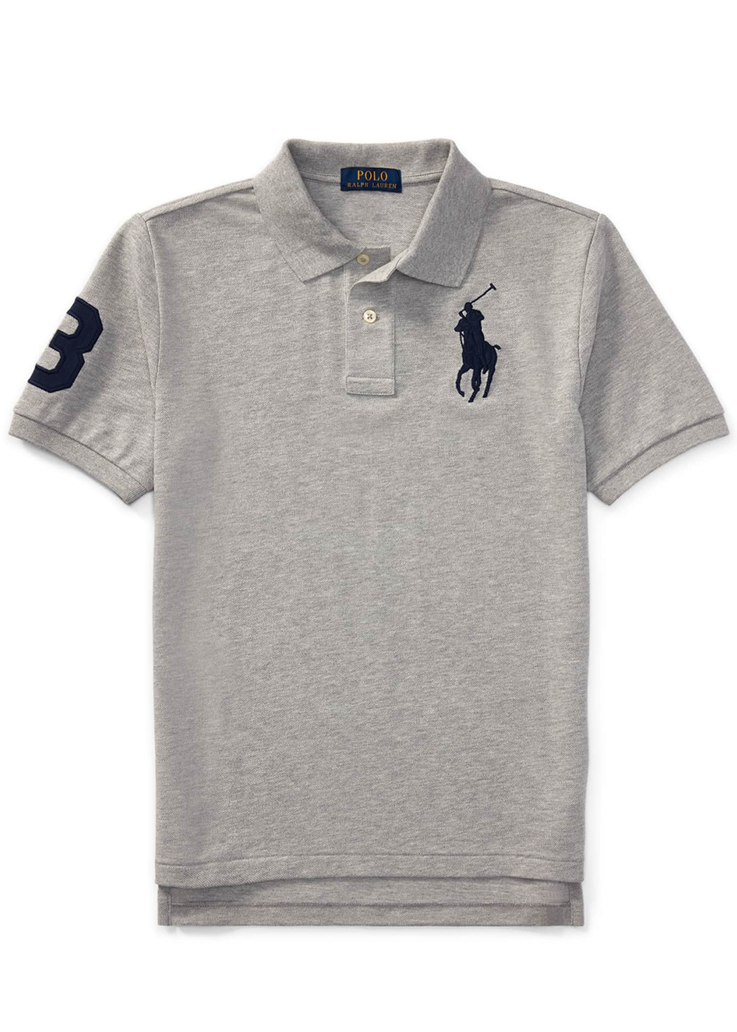 Image 1 of 2: Big Pony Mesh Knit Polo, Size S-XL