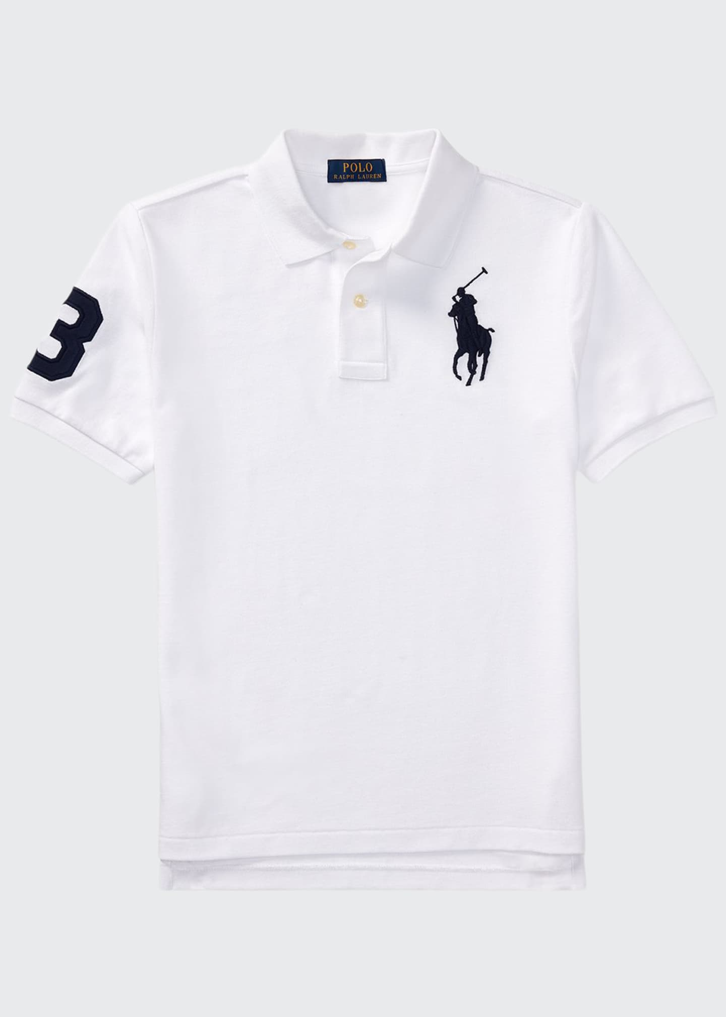 Ralph Lauren Childrenswear Big Pony Mesh Knit Polo,