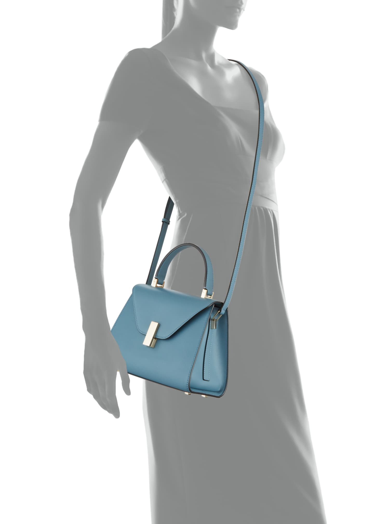 Image 3 of 3: Smooth Calf Mini Iside Top Handle Bag