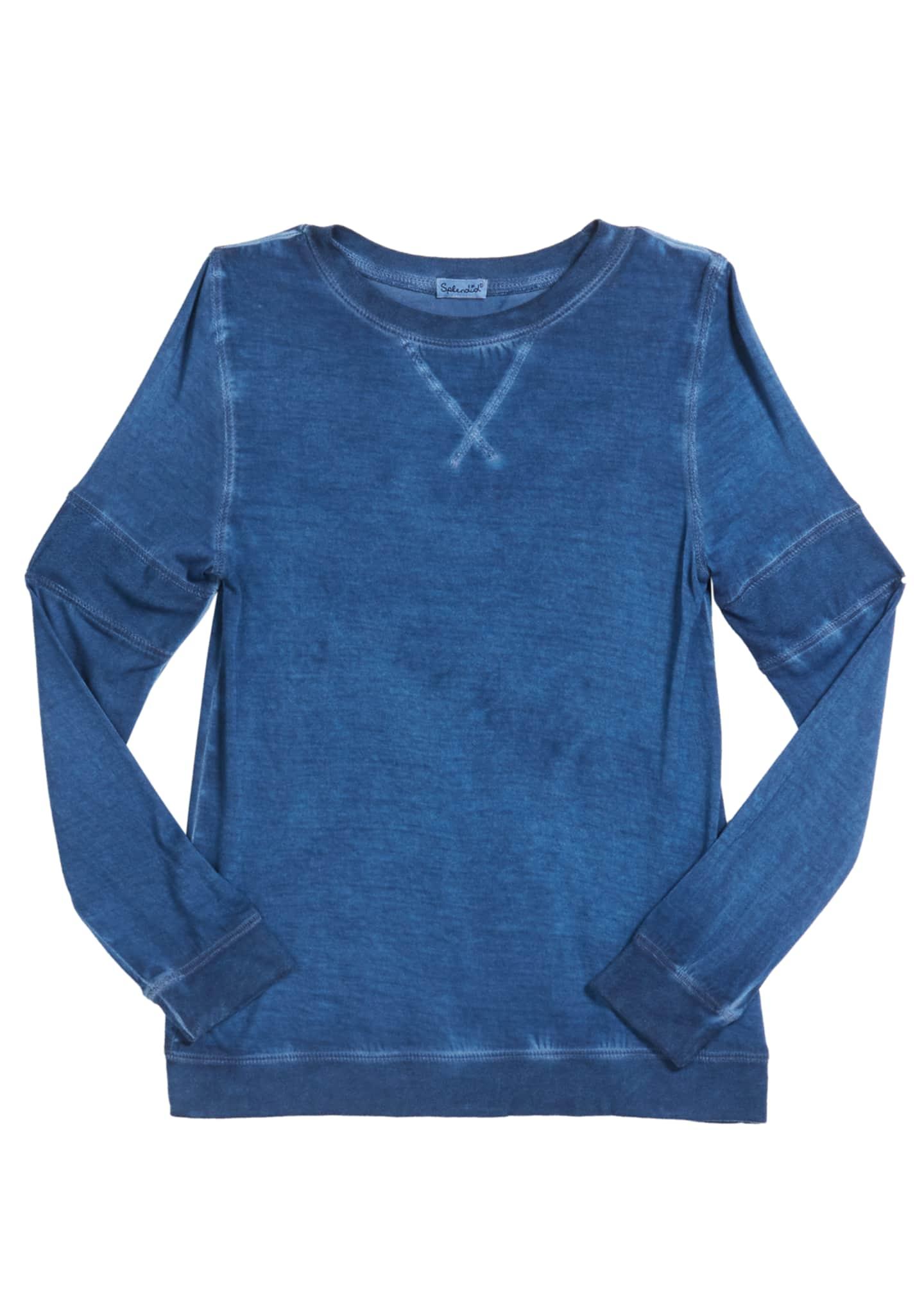 Splendid Girl's Oil Wash Jersey Top, Size 7-14