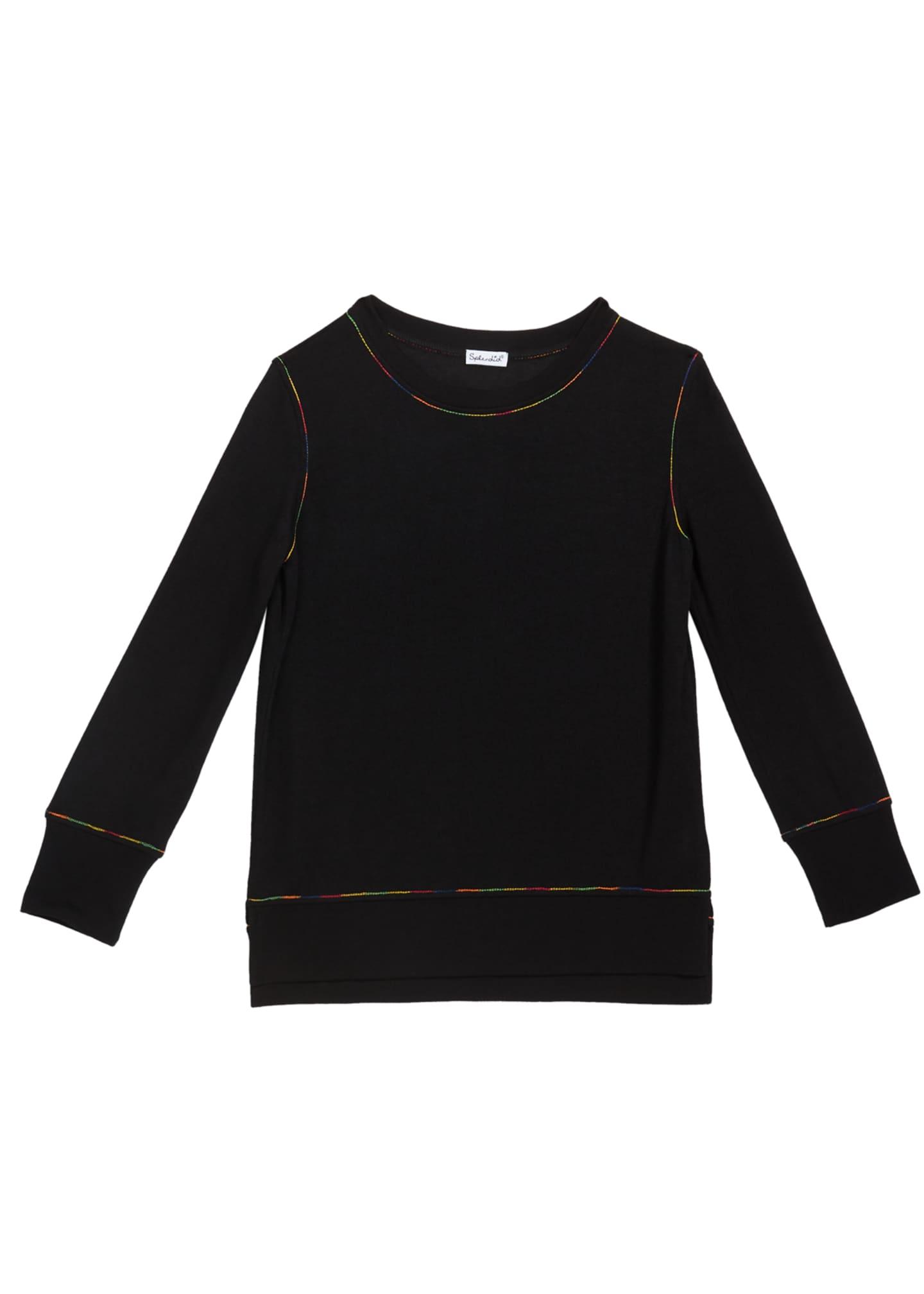 Splendid Girl's Rainbow Stitch Shirt, Size 7-14