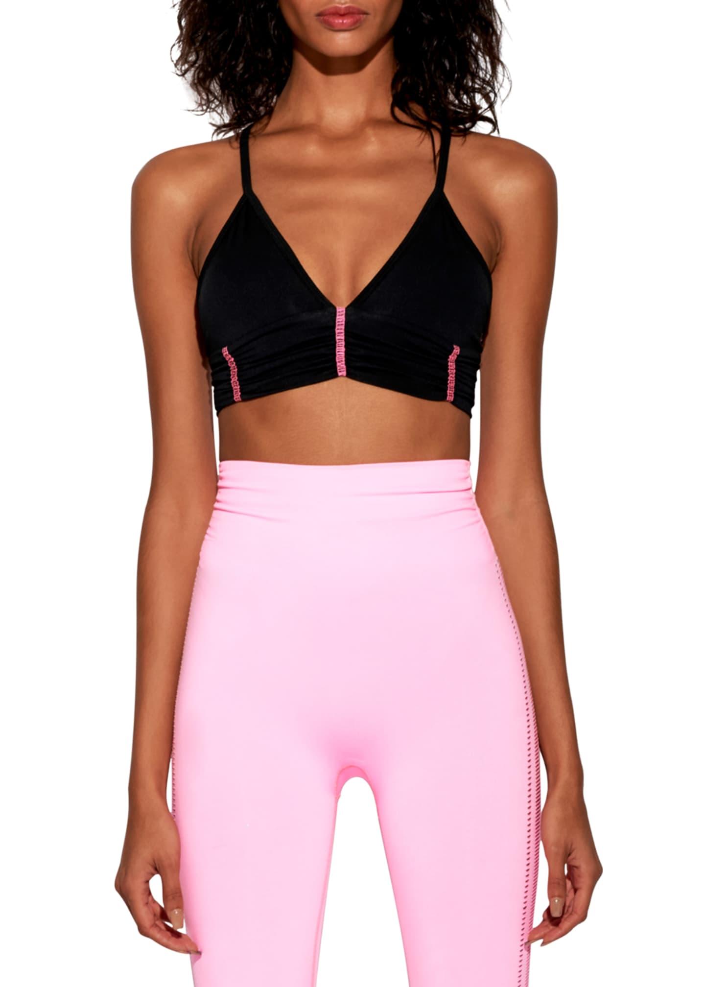 Body Language Sportswear Scrunchy Cross-Back Sports Bra