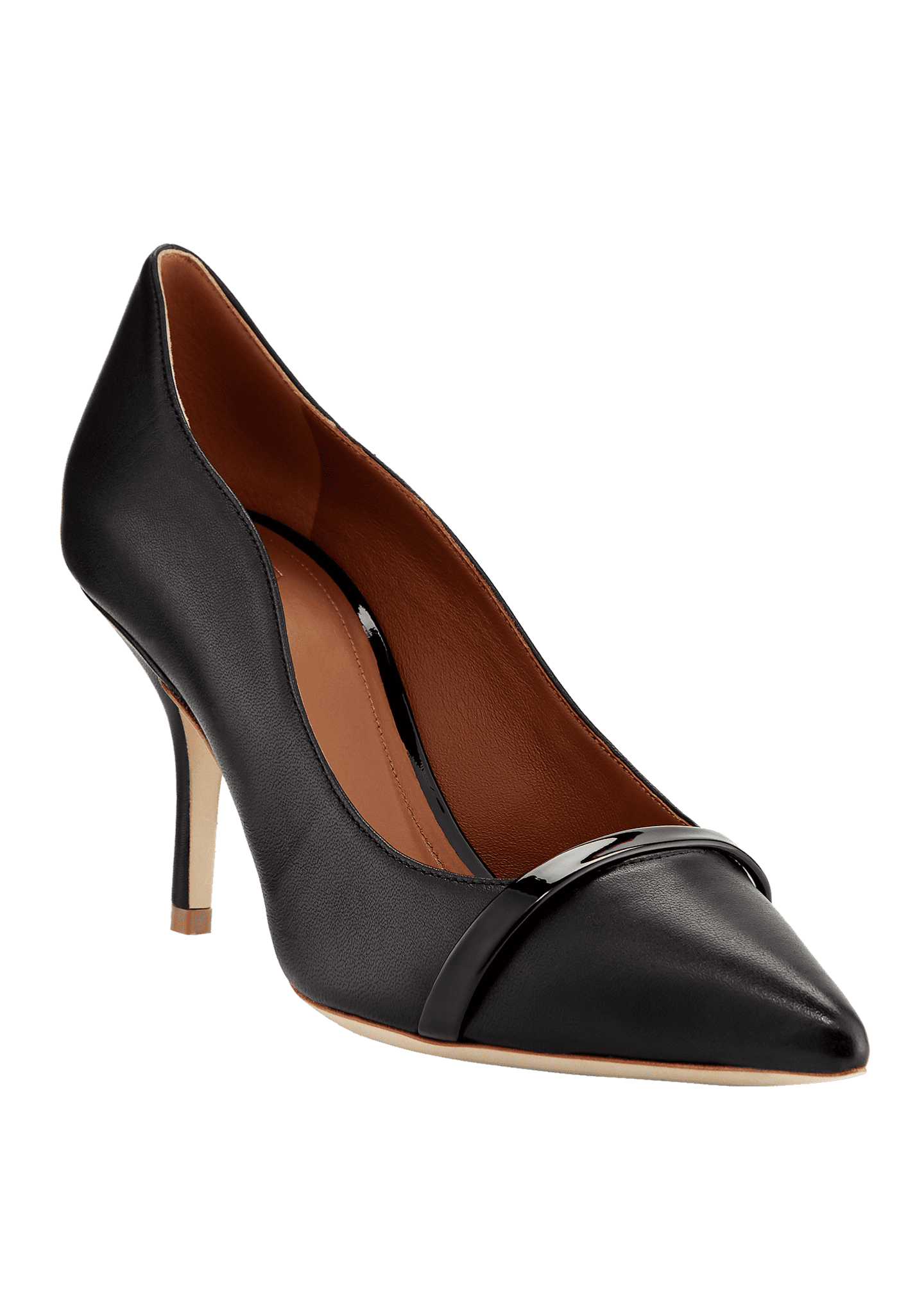 Image 3 of 4: Maybelle 70mm Scalloped Leather Pumps
