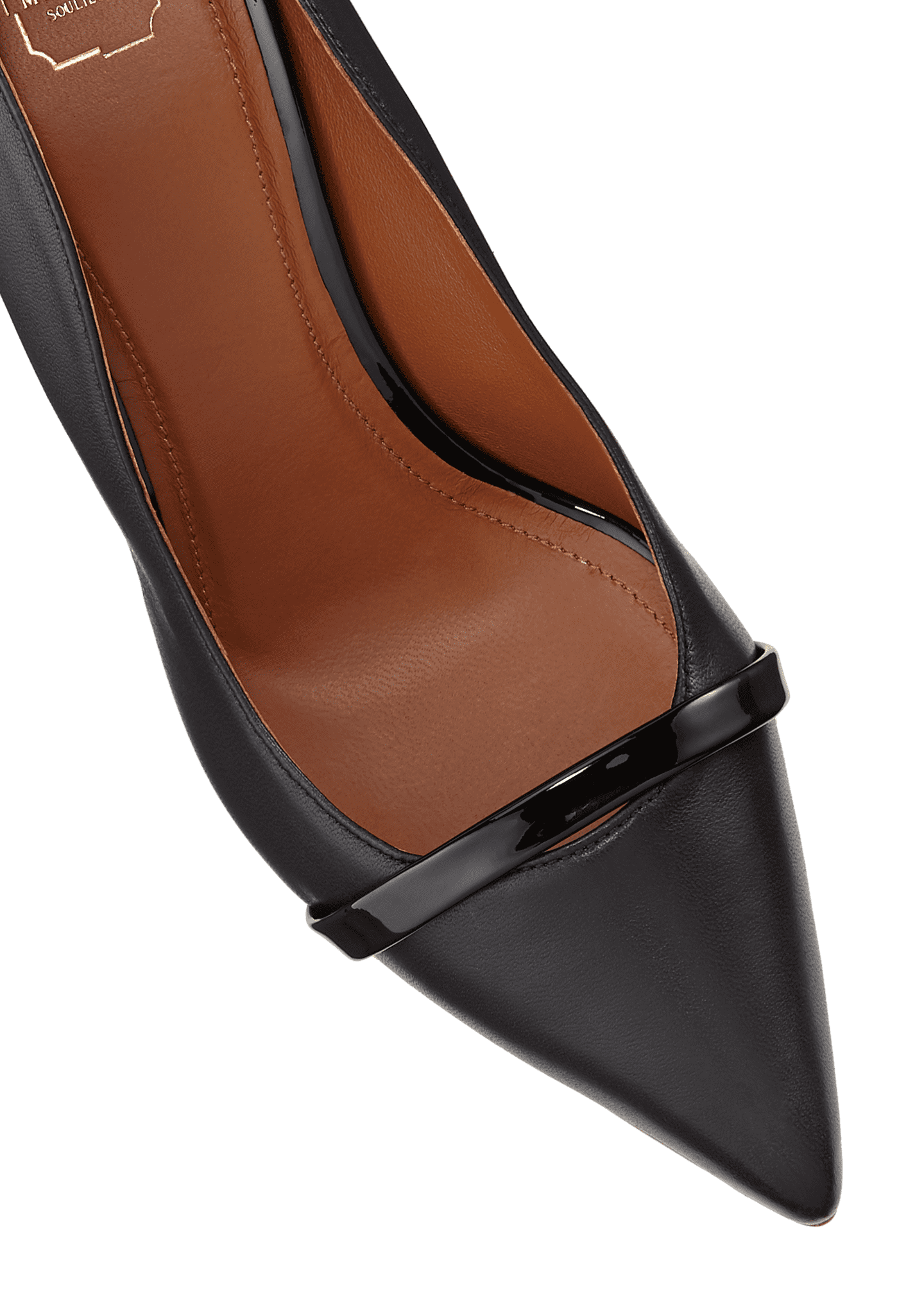 Image 4 of 4: Maybelle 70mm Scalloped Leather Pumps