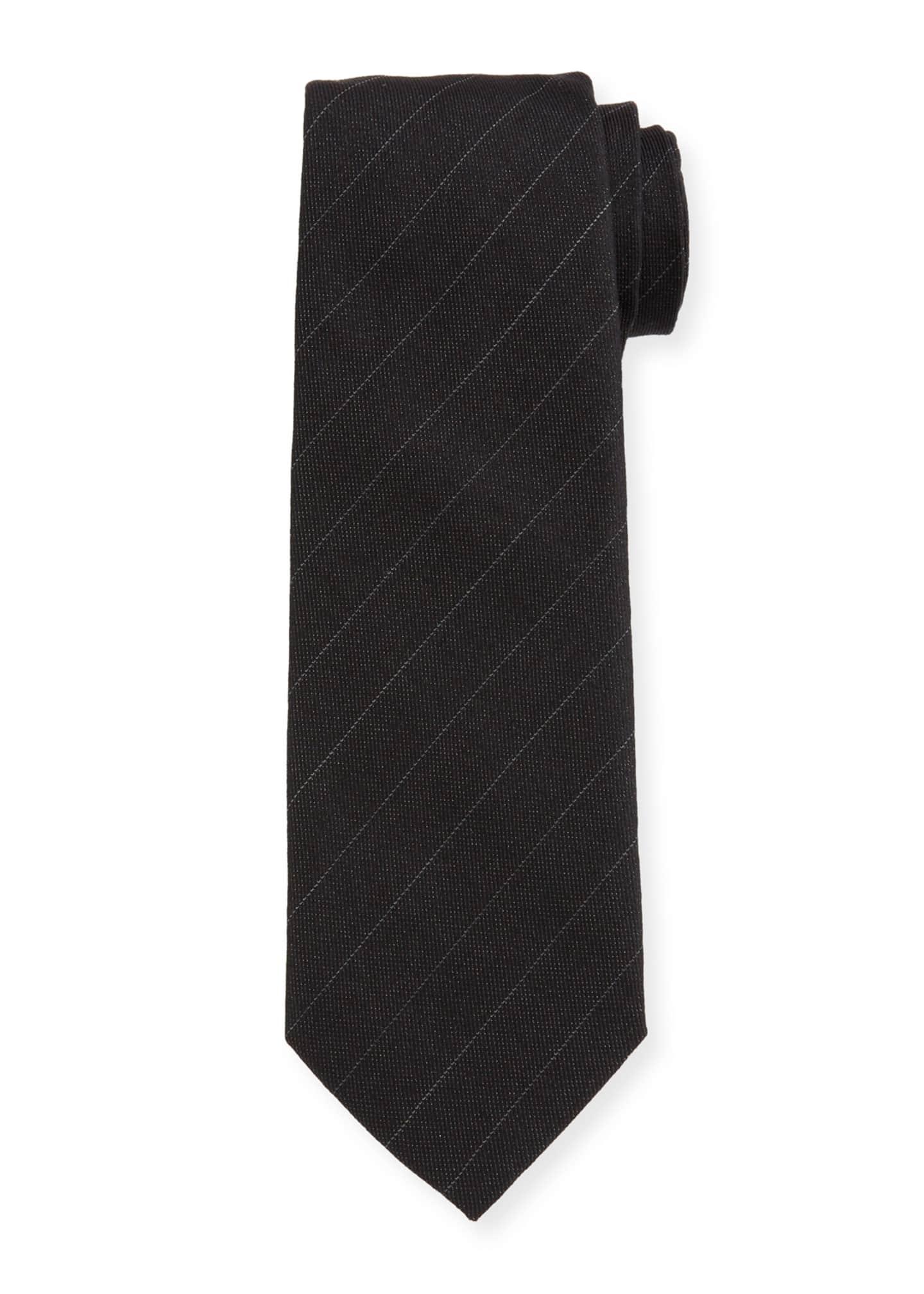 Berluti Men's Pinstripe Wool Tie