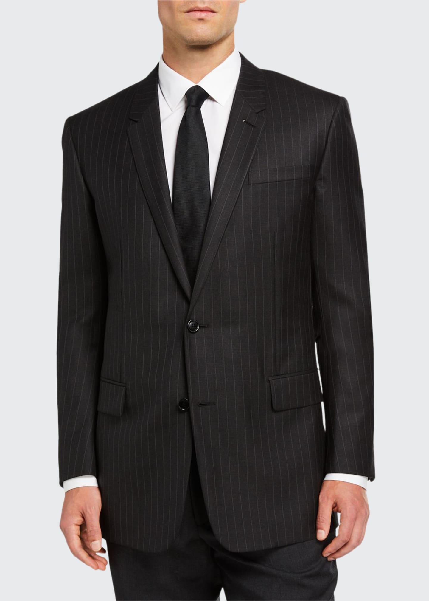 Berluti Men's Pinstripe Two-Button Jacket