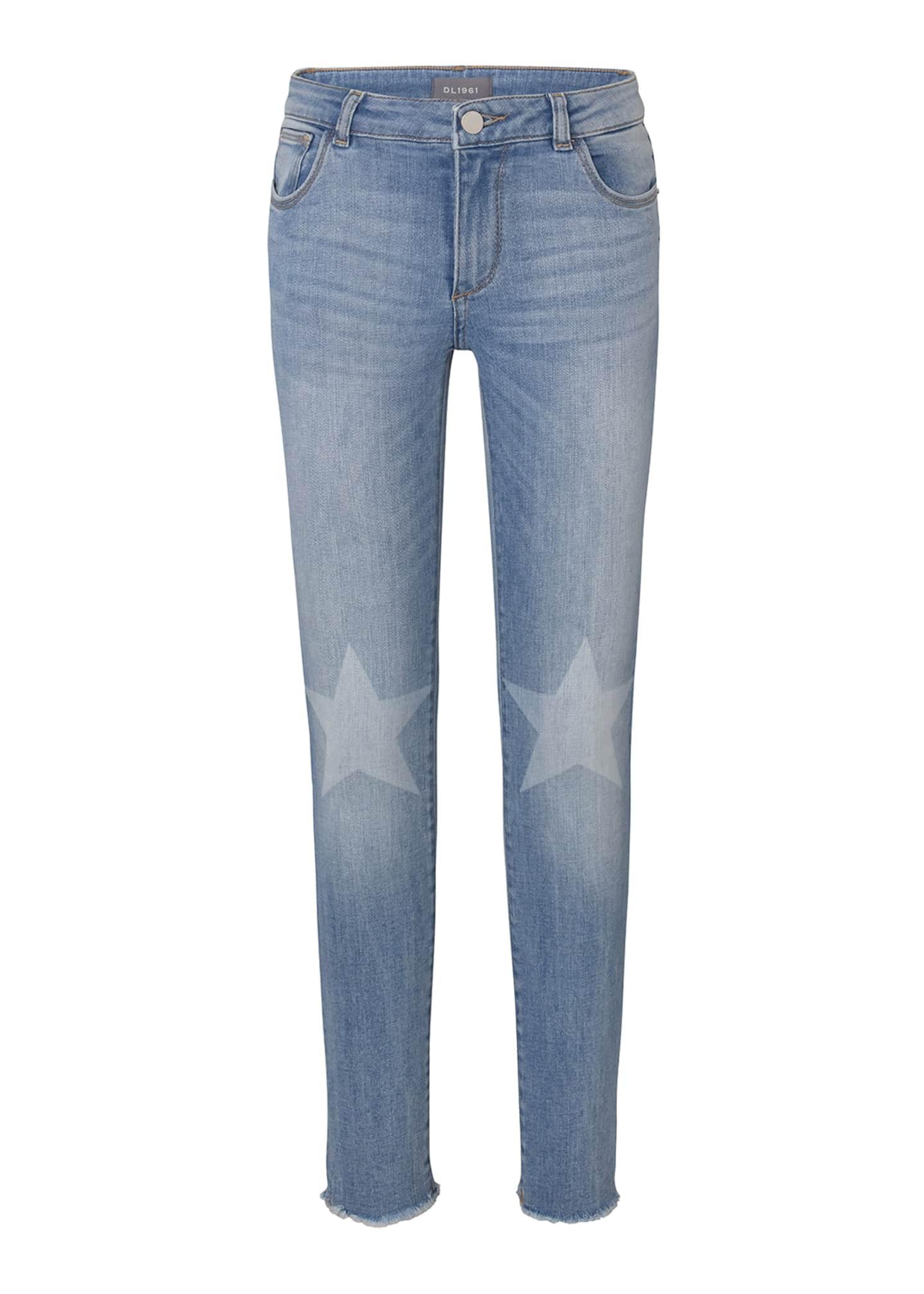 DL1961 Premium Denim Chloe Skinny Jeans w/ Contrast