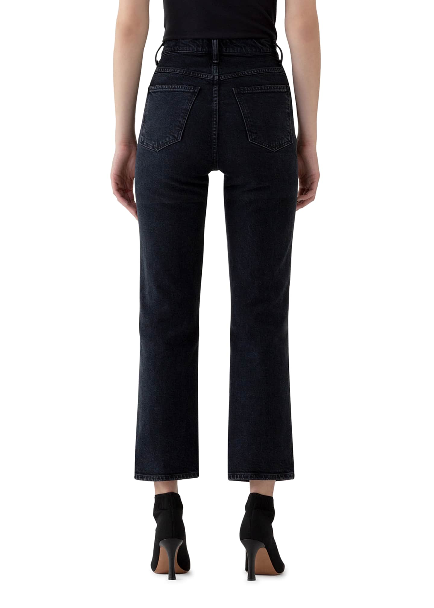 Image 3 of 3: Pinch Waist High-Rise Straight Jeans