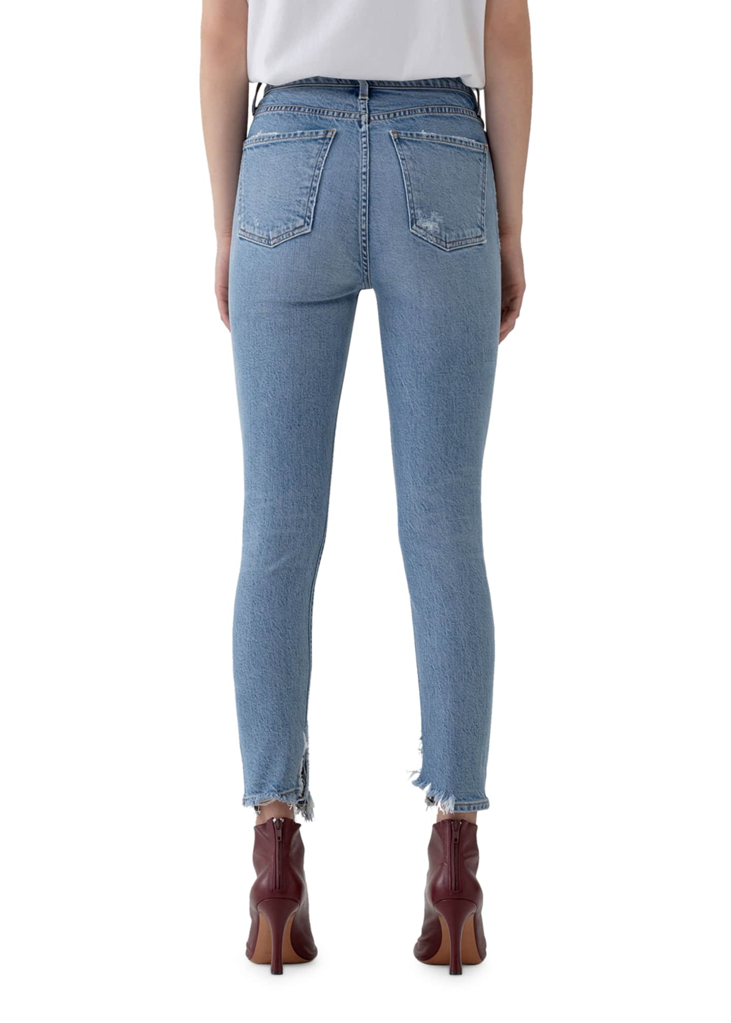 Image 3 of 3: Nico High-Rise Slim Jeans with Shredded Hem
