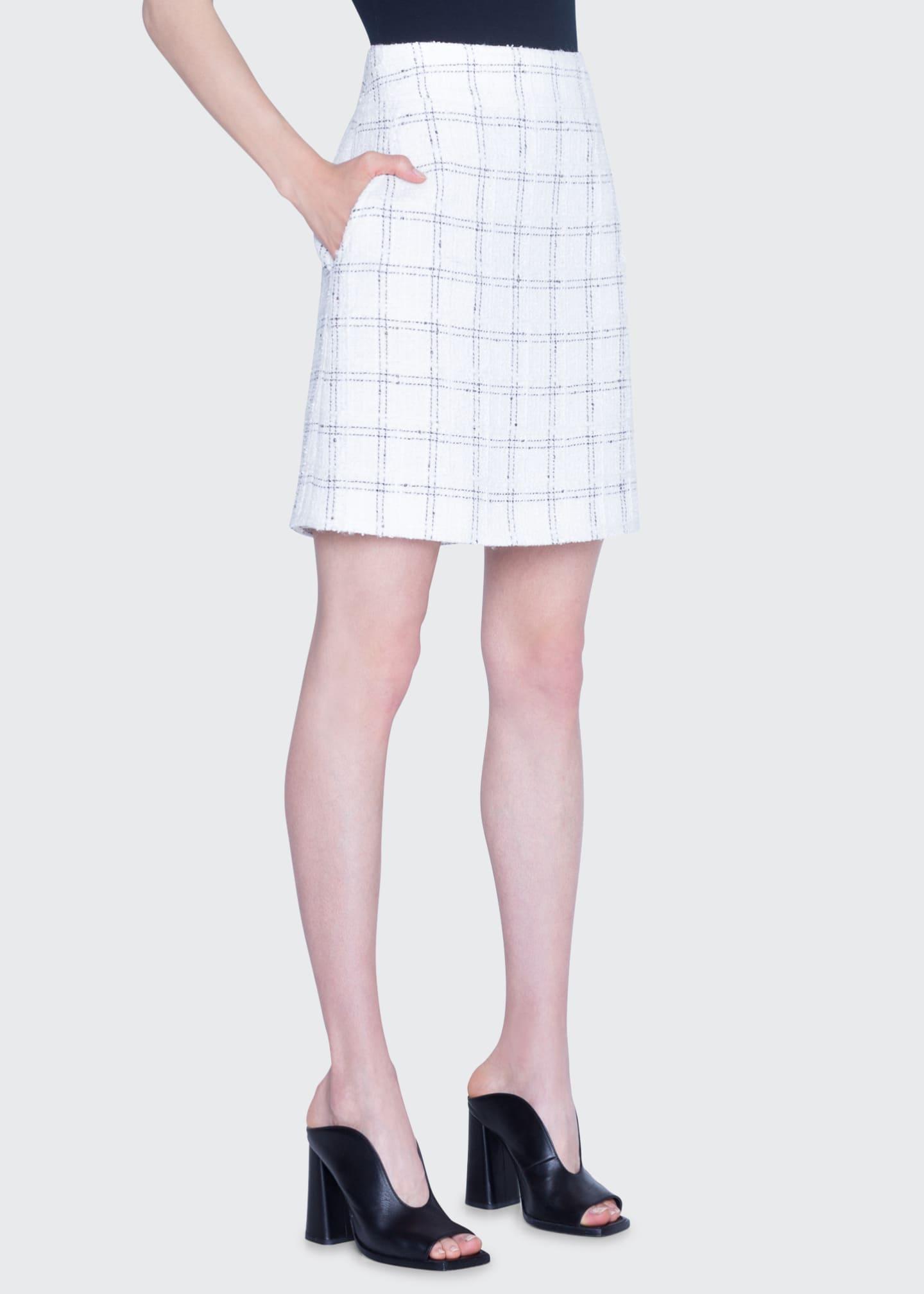 Akris punto Super Lightweight Tweed A-Line Skirt