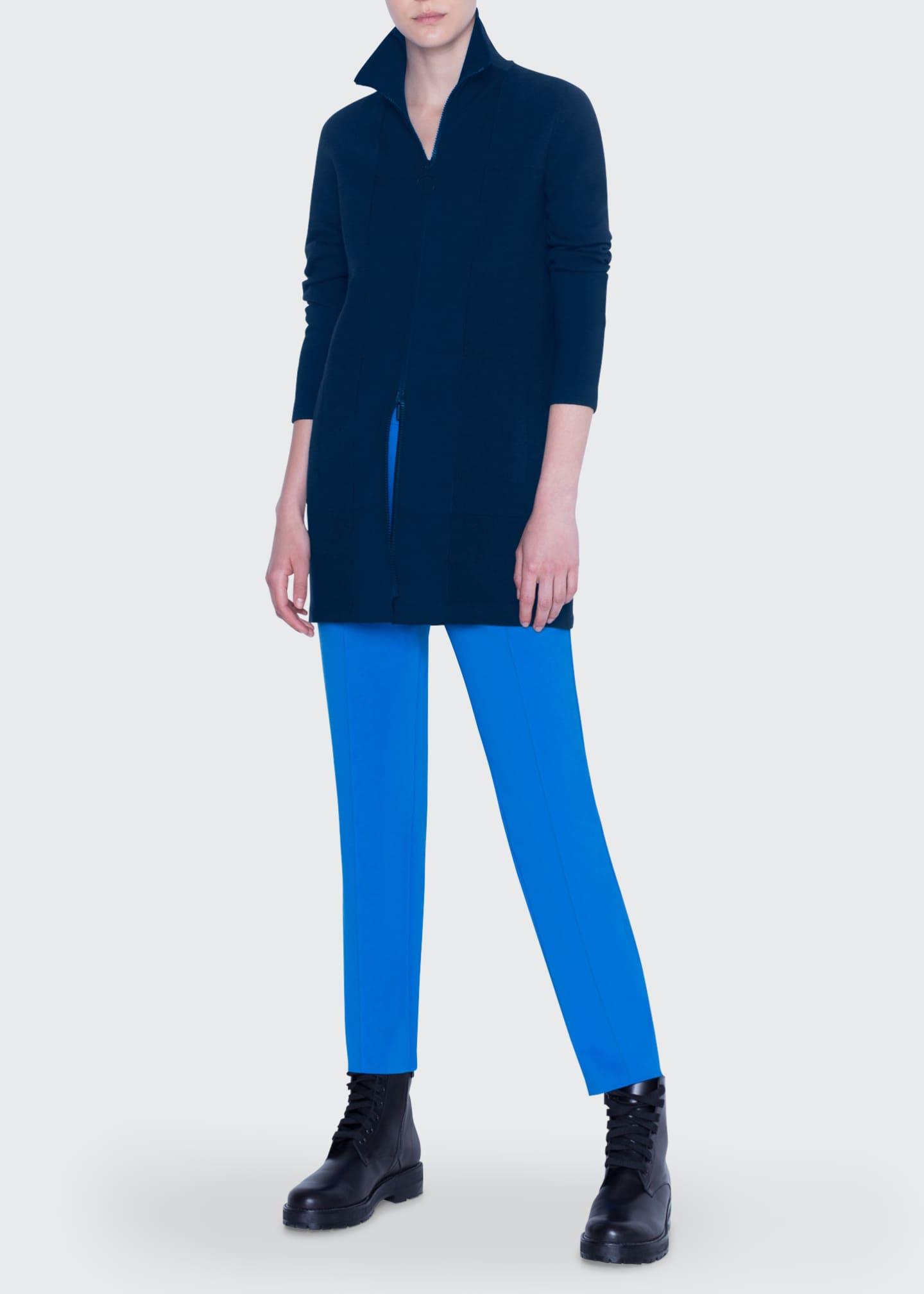 Akris punto Milano Knit Stand Collar Zip-Front Cardigan