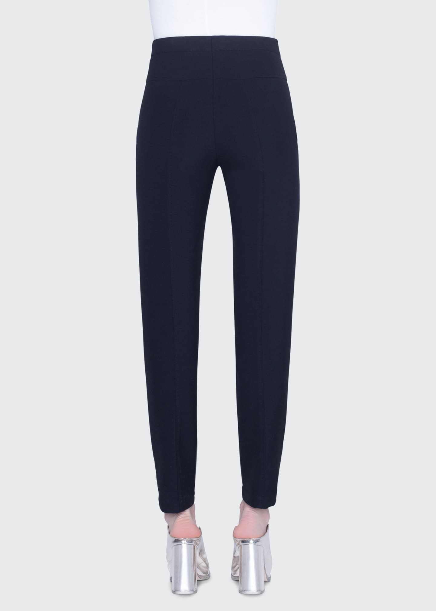 Image 2 of 2: Freya Pebbled Crepe High-Rise Pants
