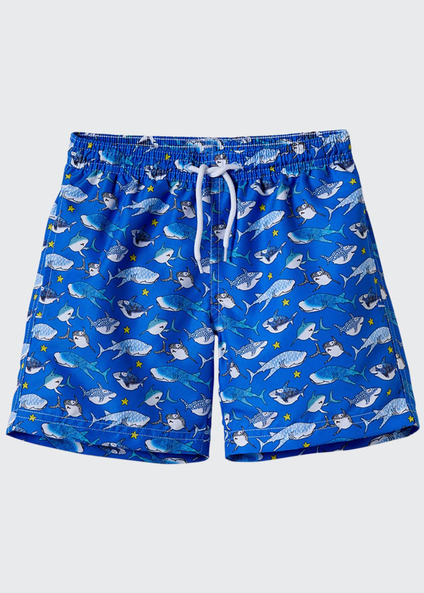 Image 1 of 1: Boys' Shark Swim Trunks, 12M-8