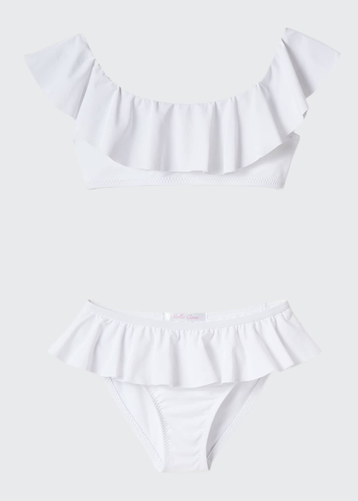Image 1 of 1: Ruffle Two-Piece Bikini Set, Size 2-14