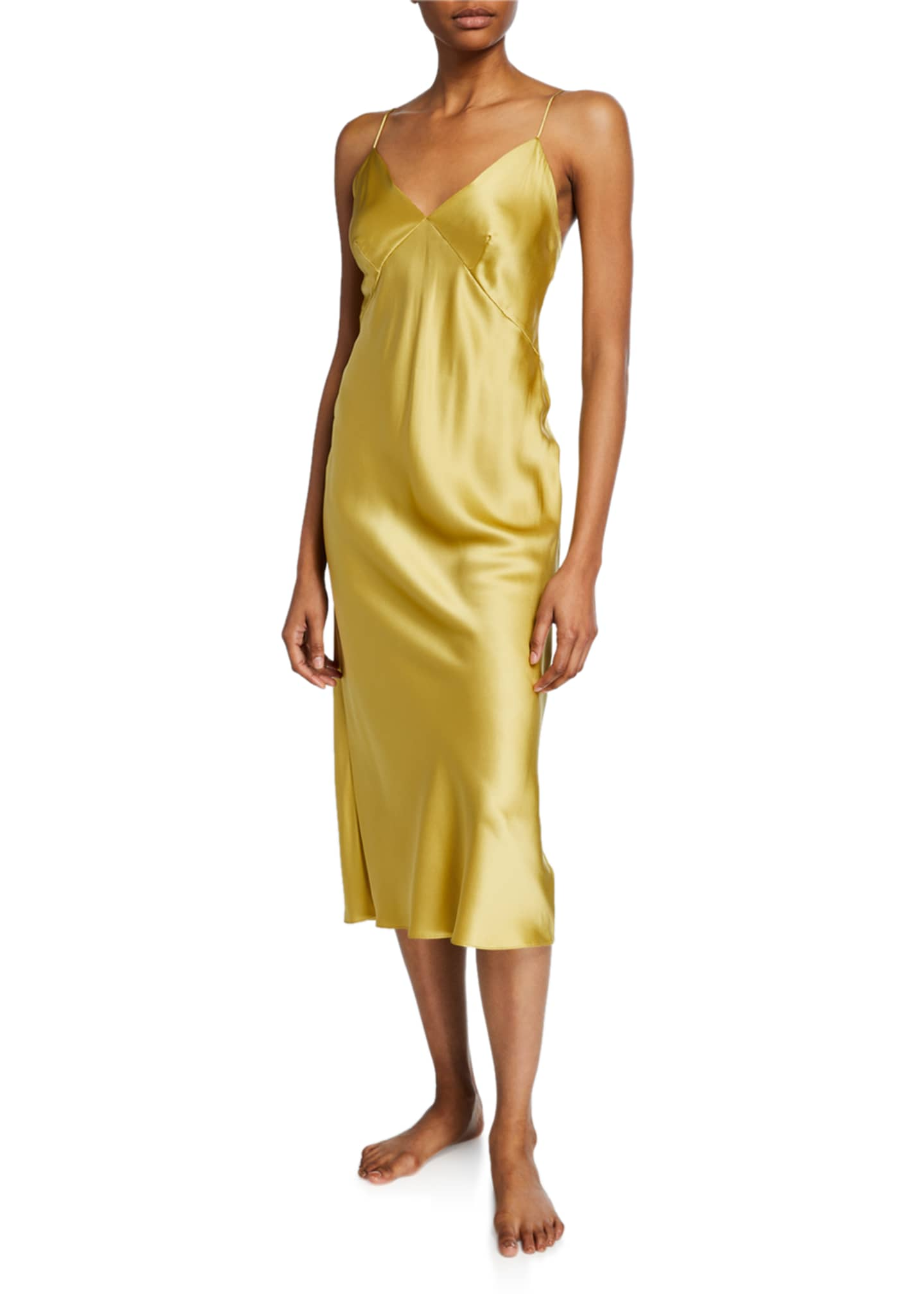 Olivia Von Halle Issa Honey Silk Nightgown