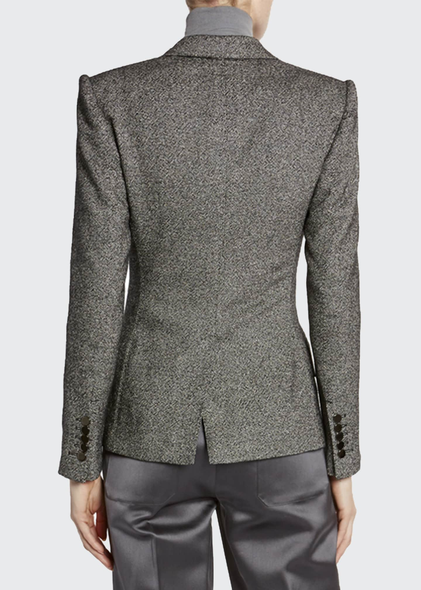 Image 2 of 3: Donegal-Tweed Strong-Shoulder Jacket