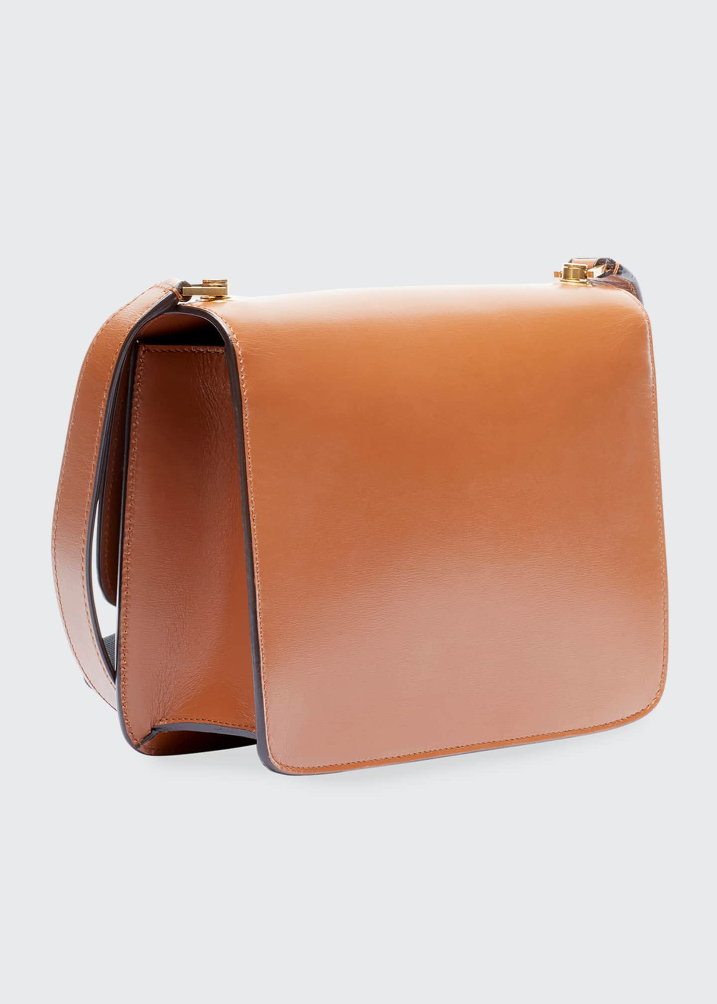 Image 2 of 3: Carre Smooth Leather Crossbody Bag