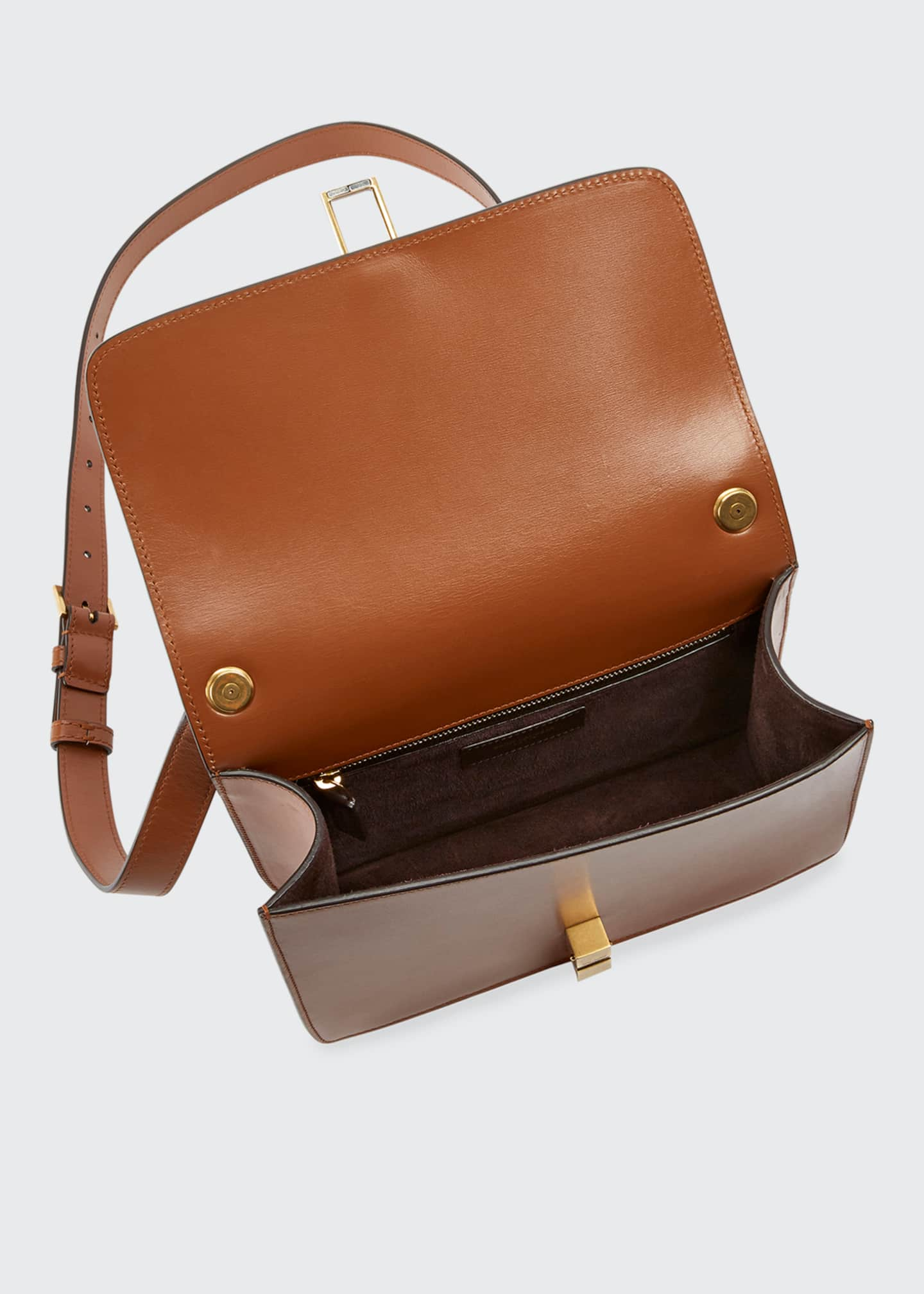 Image 3 of 3: Carre Smooth Leather Crossbody Bag