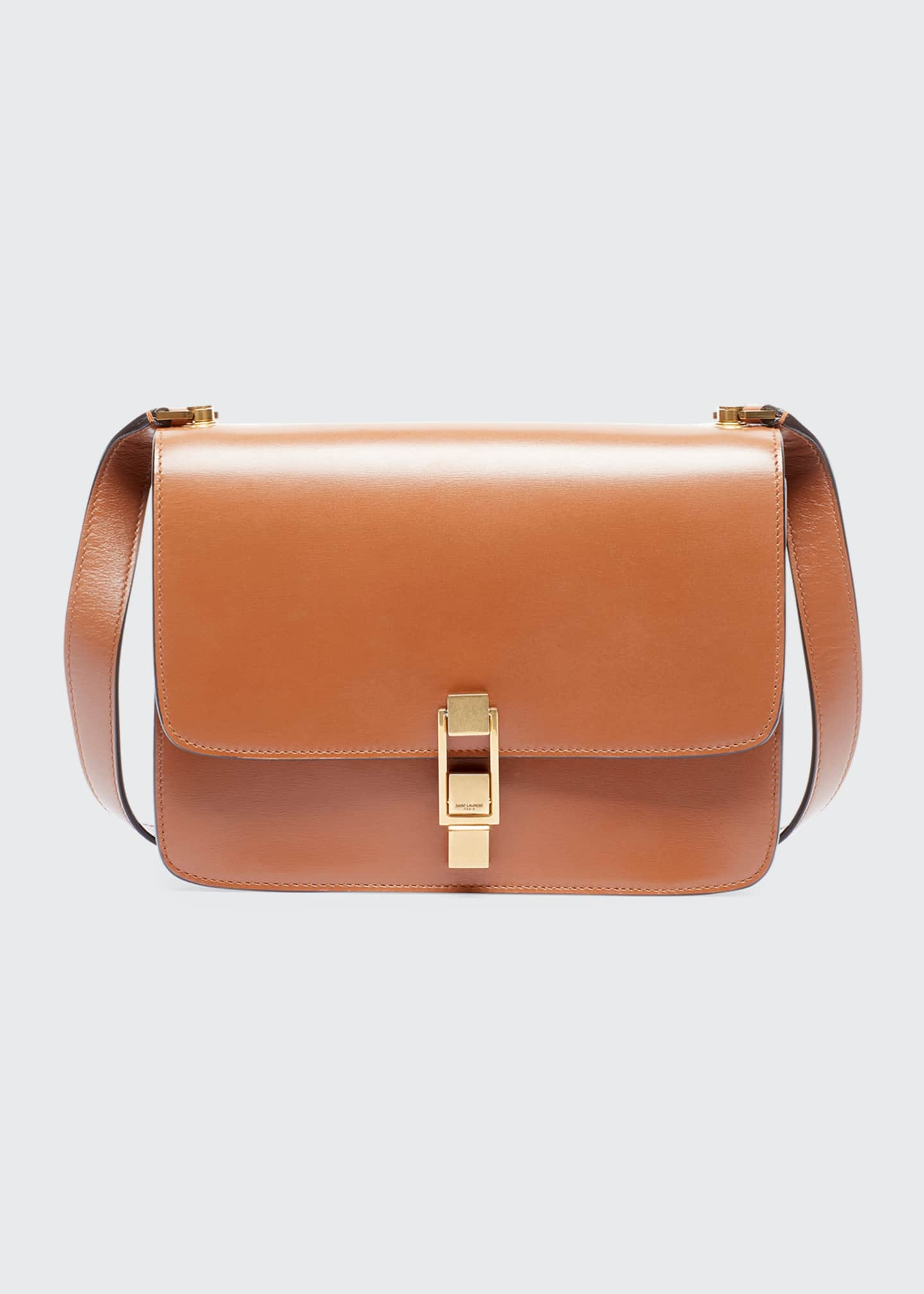 Image 1 of 3: Carre Smooth Leather Crossbody Bag