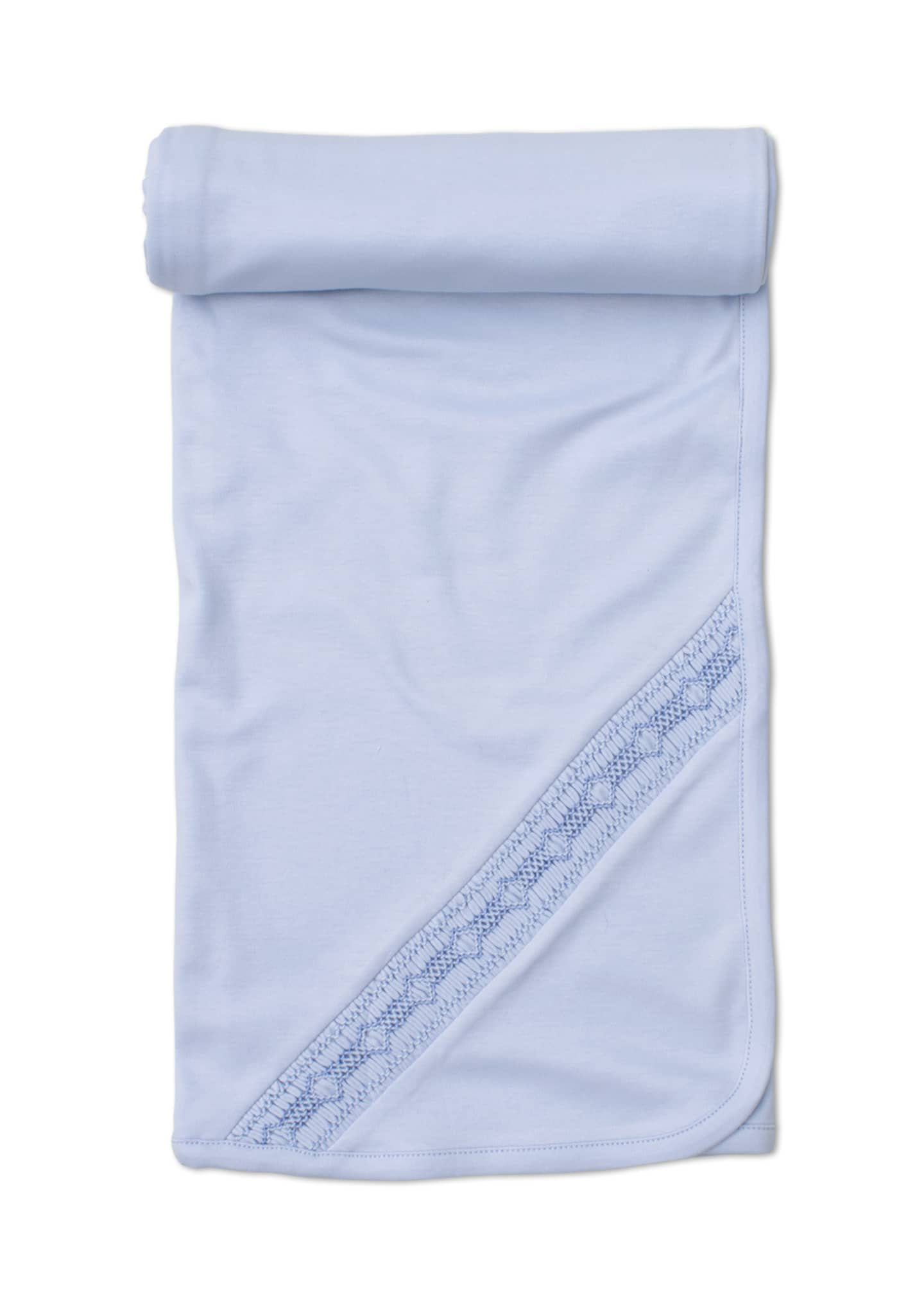 Kissy Kissy Fall Medley Pima Baby Blanket, Blue