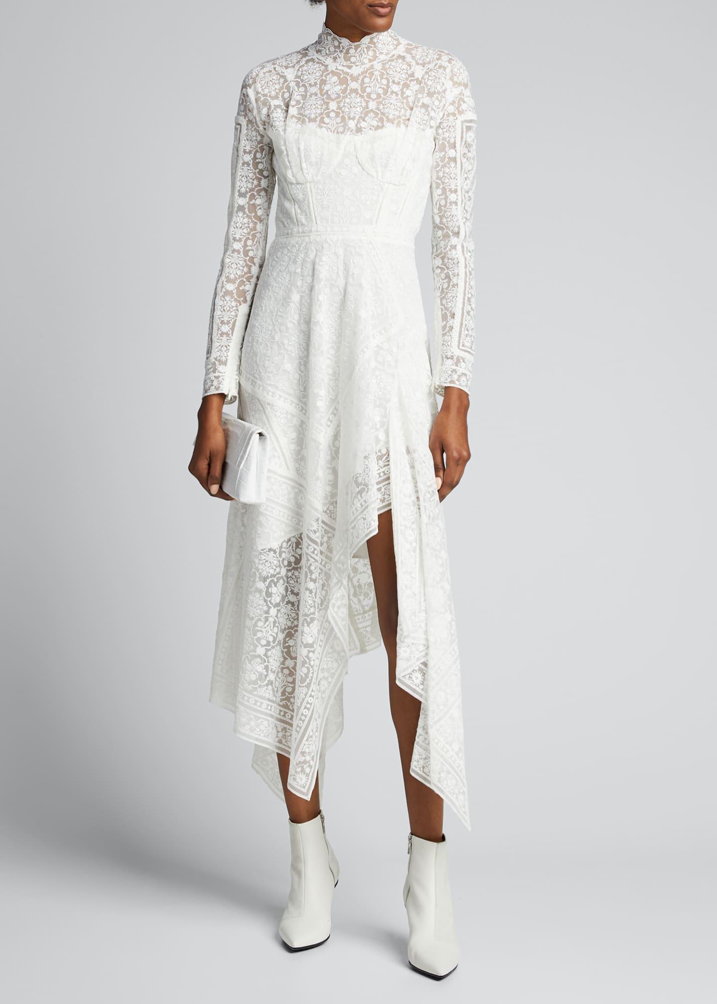 Jonathan Simkhai Scarf Embroidered Handkerchief Bustier Dress
