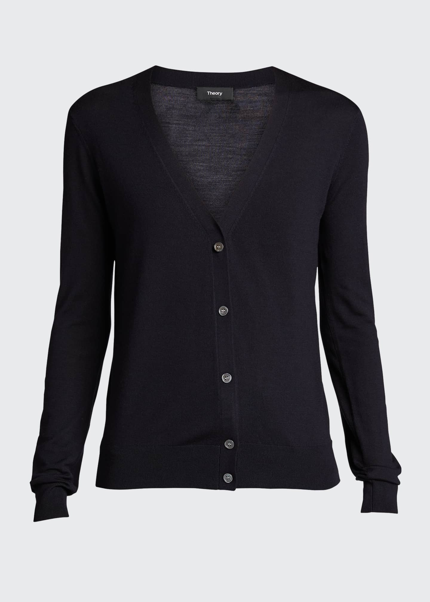 Image 5 of 5: V-Neck Button-Front Regal Wool Cardigan