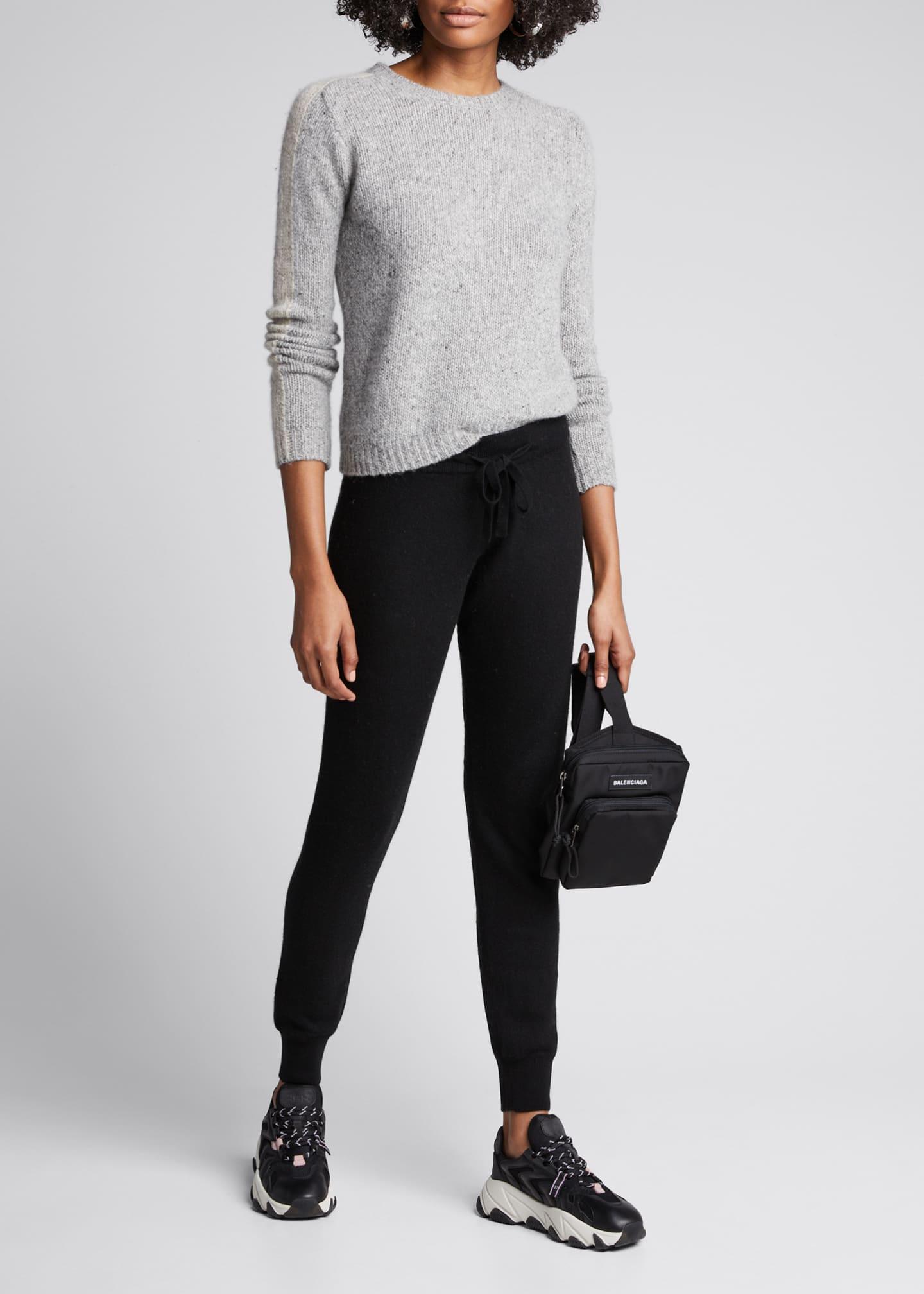 Majestic Crewneck Long-Sleeve Cashmere Sweater