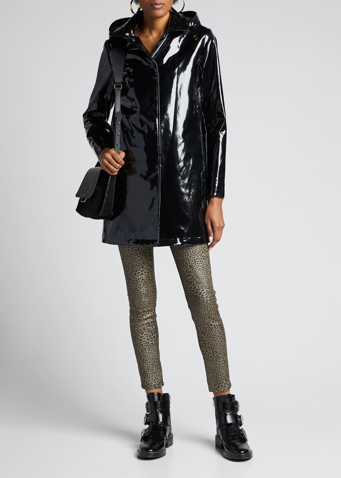 Jane Post Faux-Fur Lined Iconic Slicker w/ Detachable