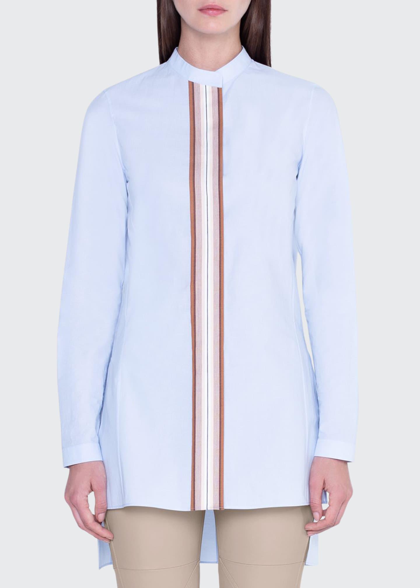 Akris Striped Button-Front Tunic