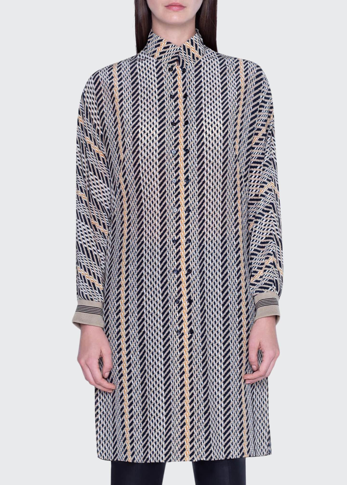 Akris Striped Tunic Dress
