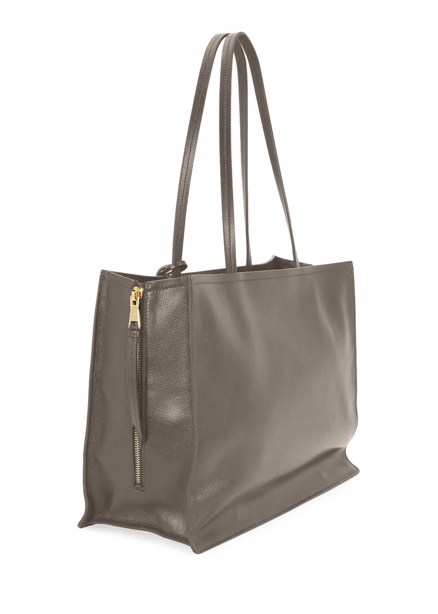 Image 3 of 3: Glace Calf Leather Tote Bag