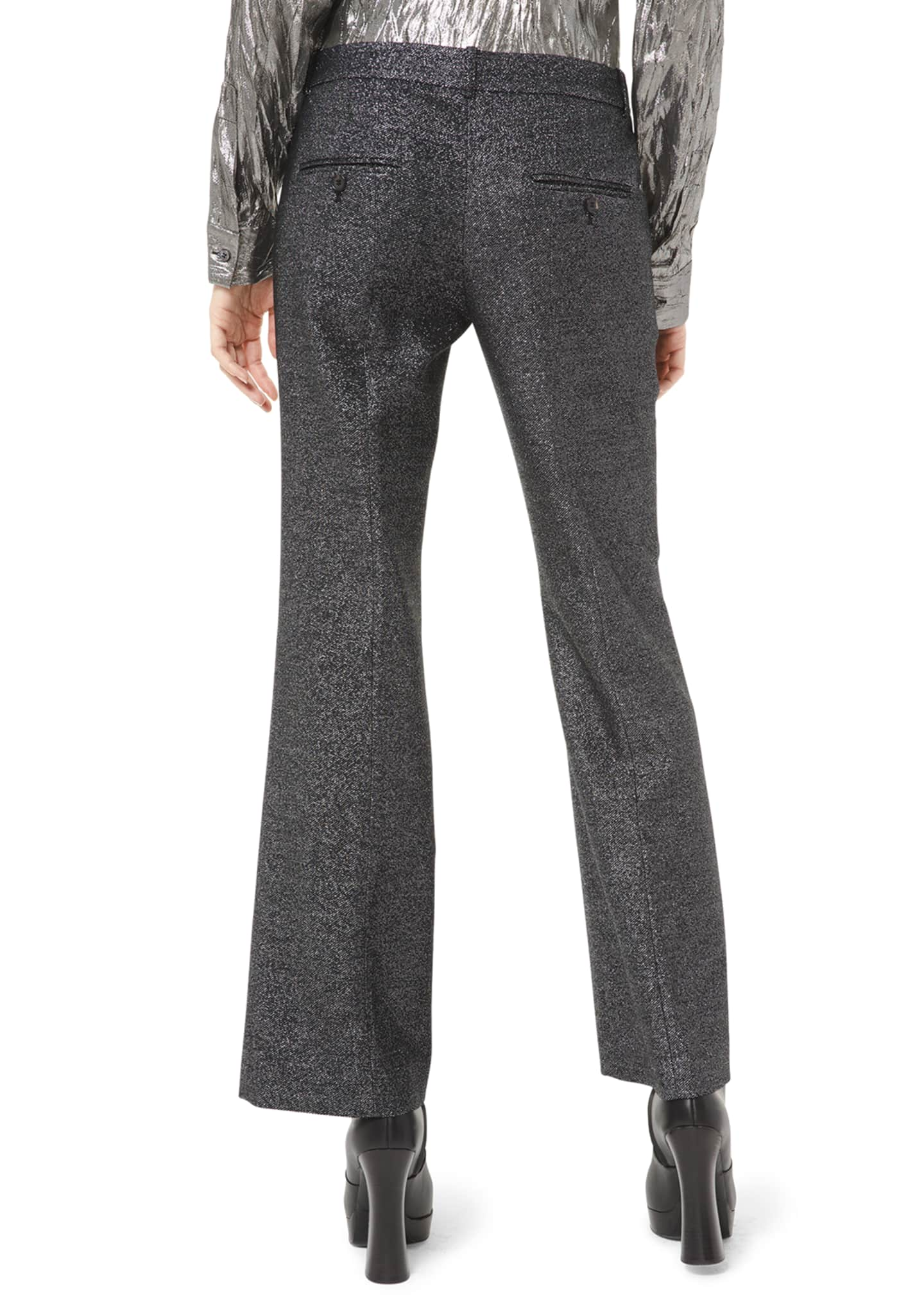 Image 2 of 2: Cropped Flare-Leg Trousers