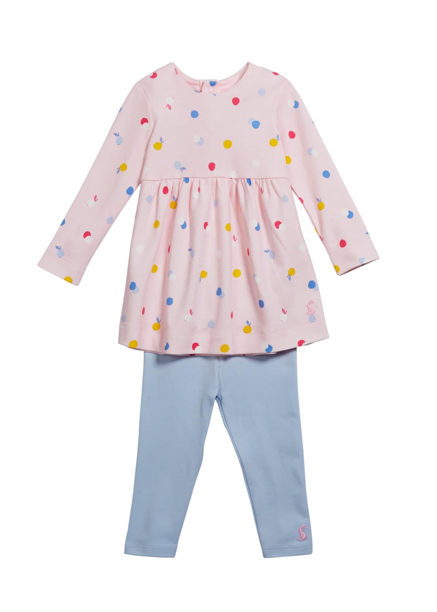 Joules Christina Long-Sleeve Dress w/ Leggings, Size 6-24
