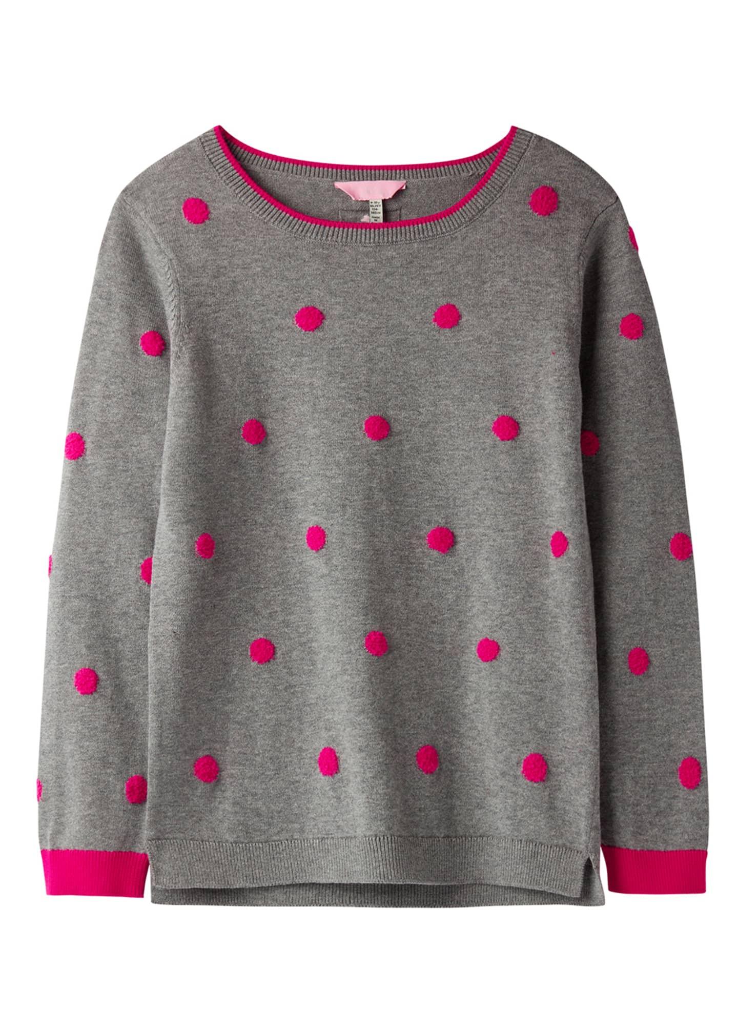 Joules Girl's Miranda Pompom Top, Size 3-12