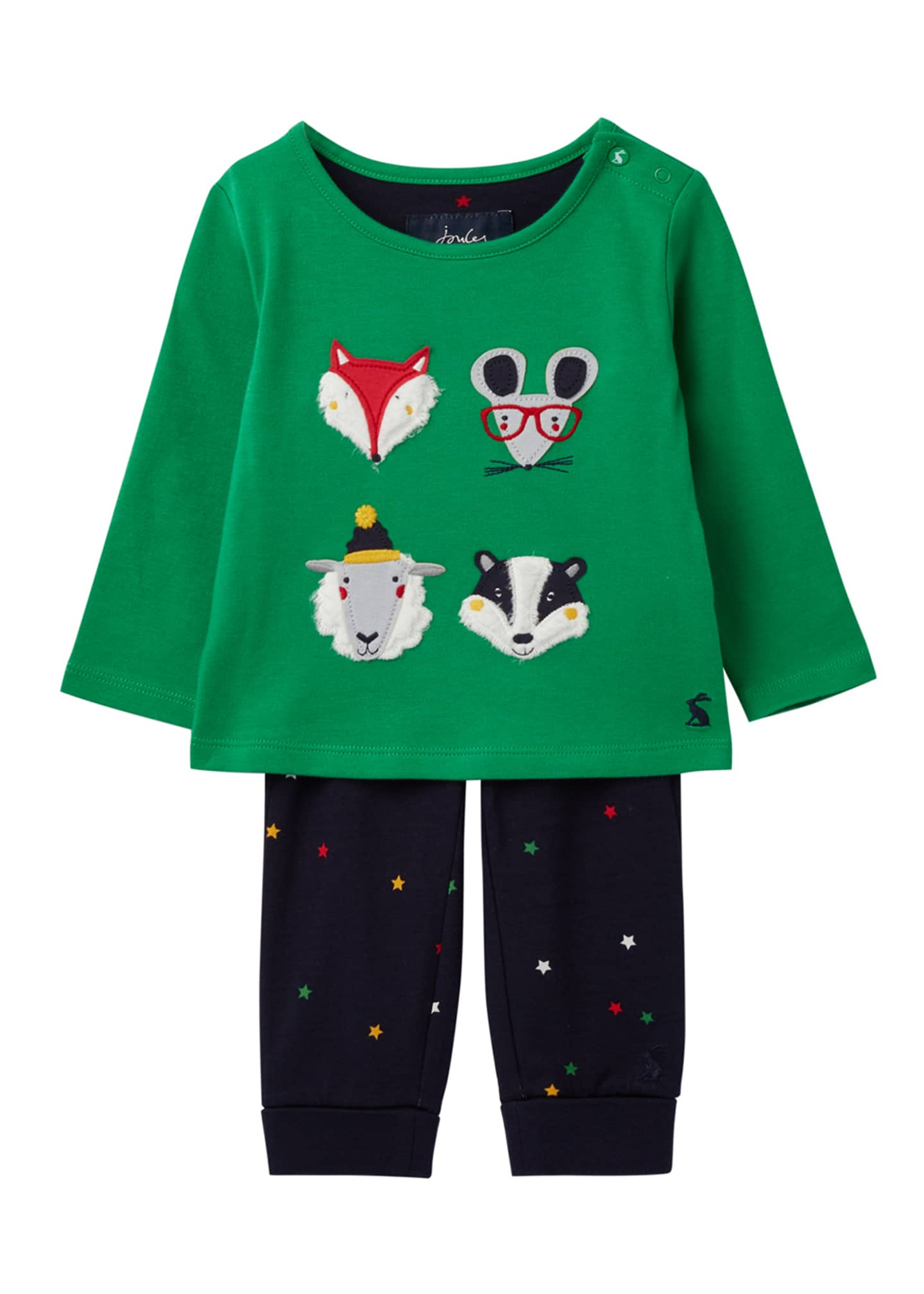 Joules Boy's Byron Animal Face Top w/ Star