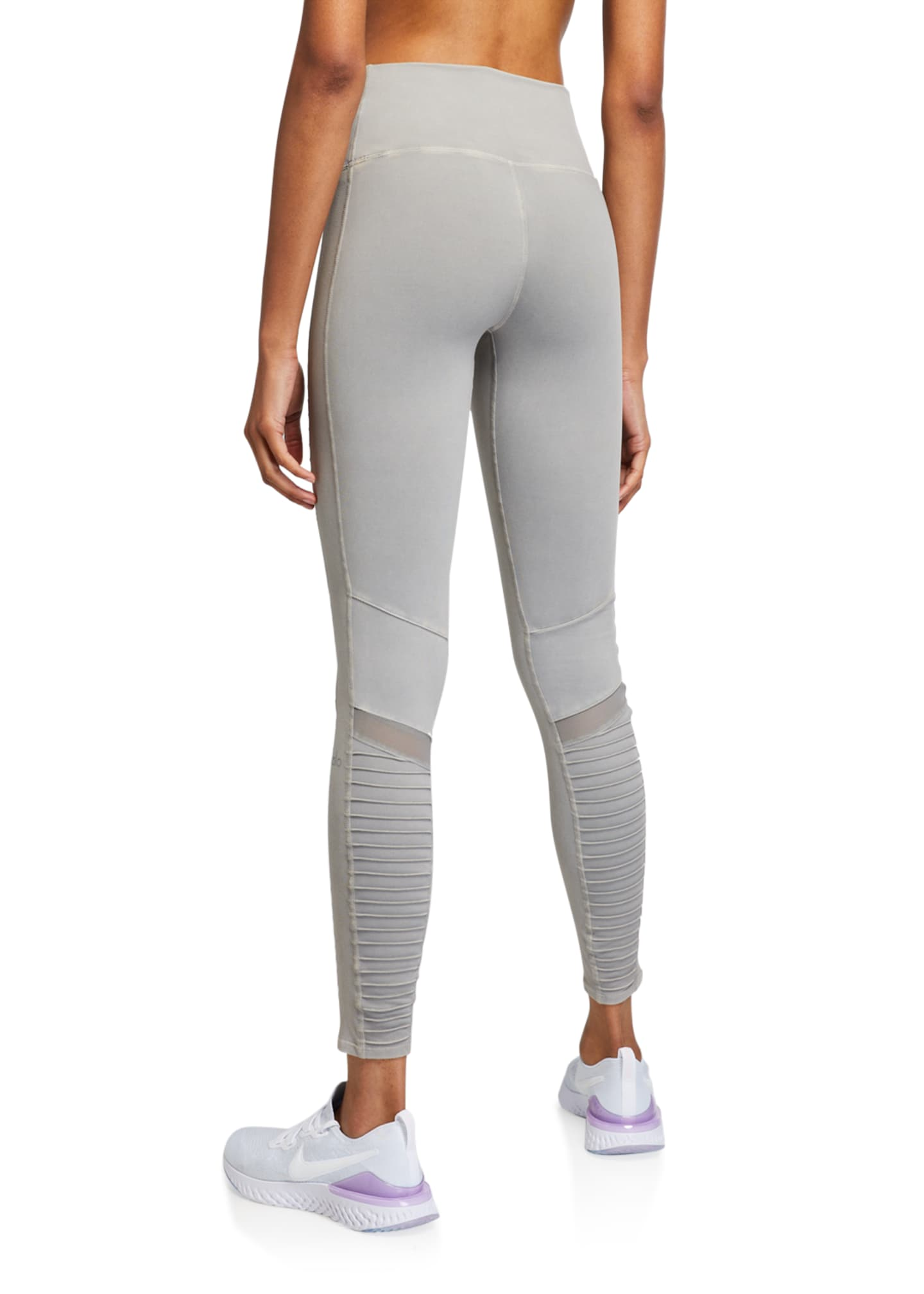 Image 2 of 3: High-Waist Washed Moto Leggings