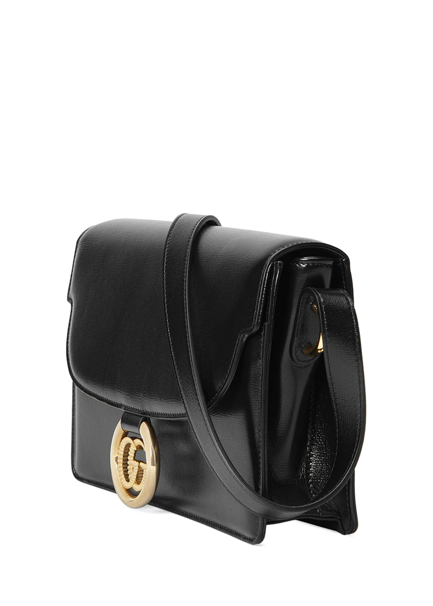 Image 3 of 4: GG Ring Small Leather Crossbody Bag