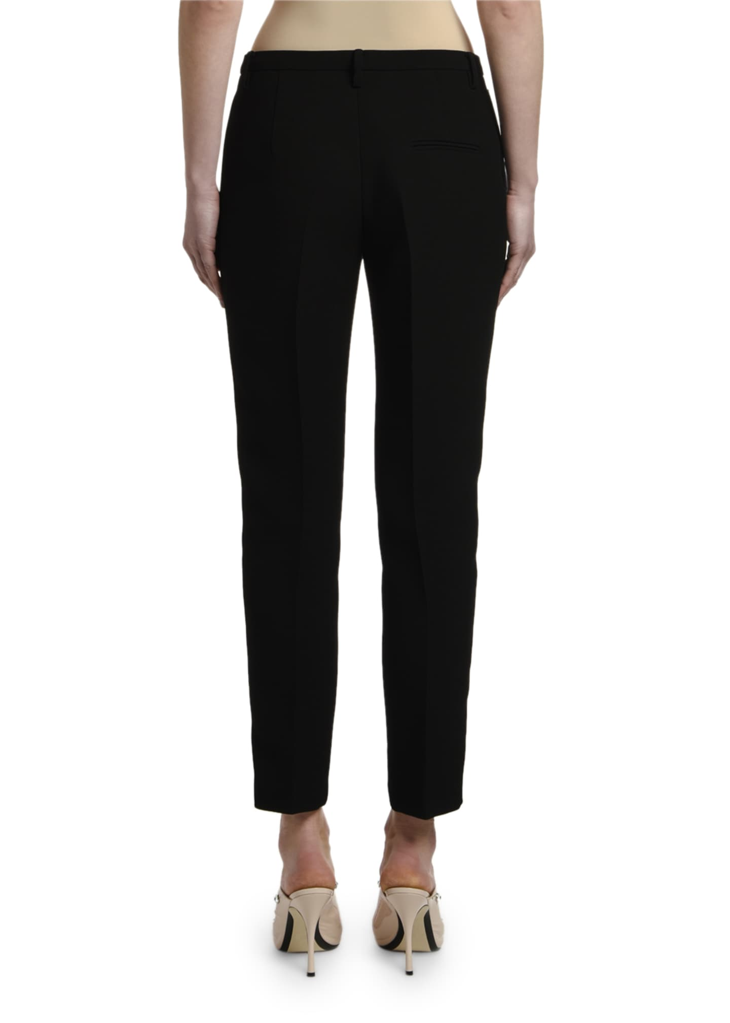 Image 3 of 3: Mid-Rise Straight-Leg Ankle Pants