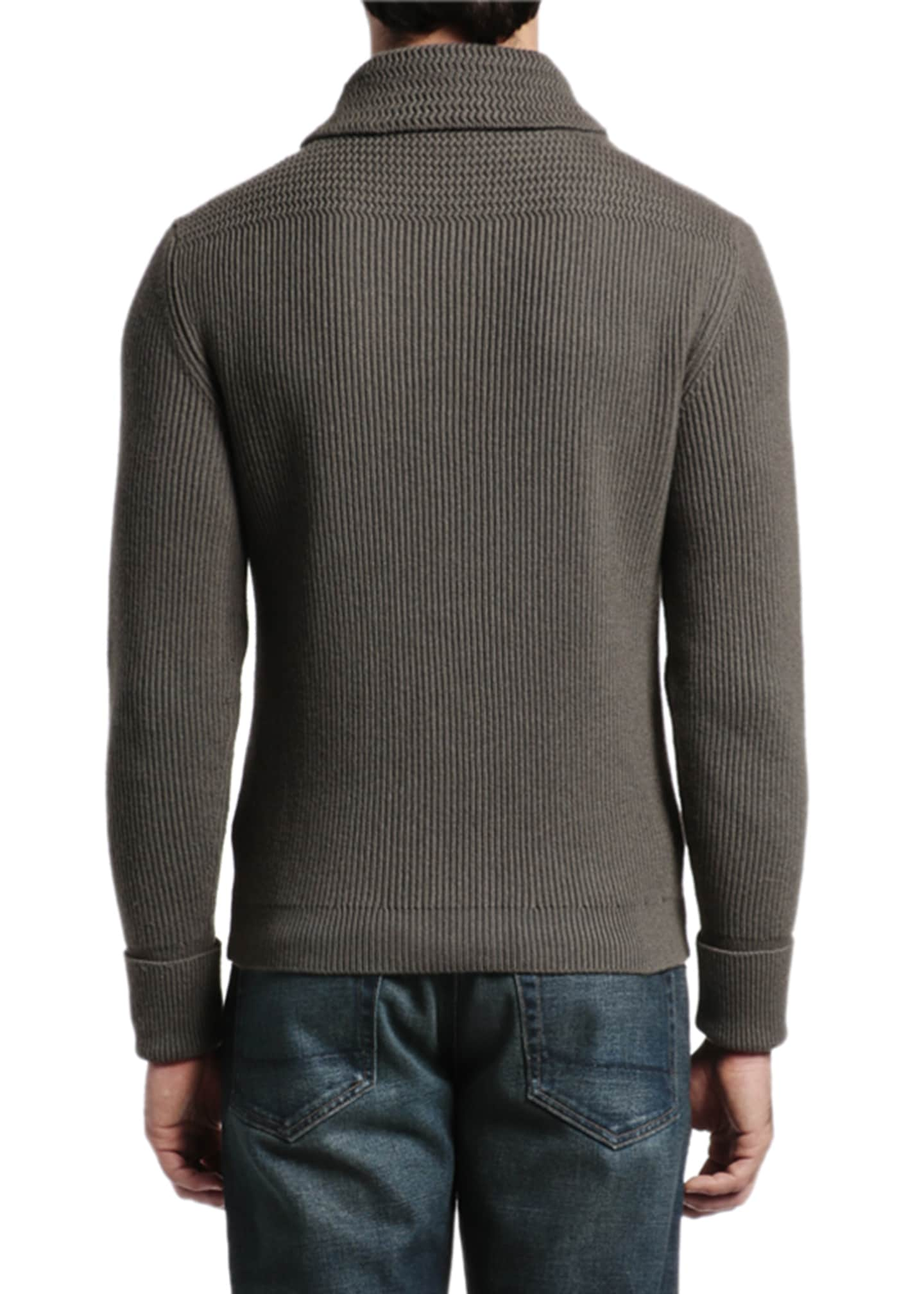 Image 4 of 4: Men's Cashmere Shawl-Collar Cardigan Sweater