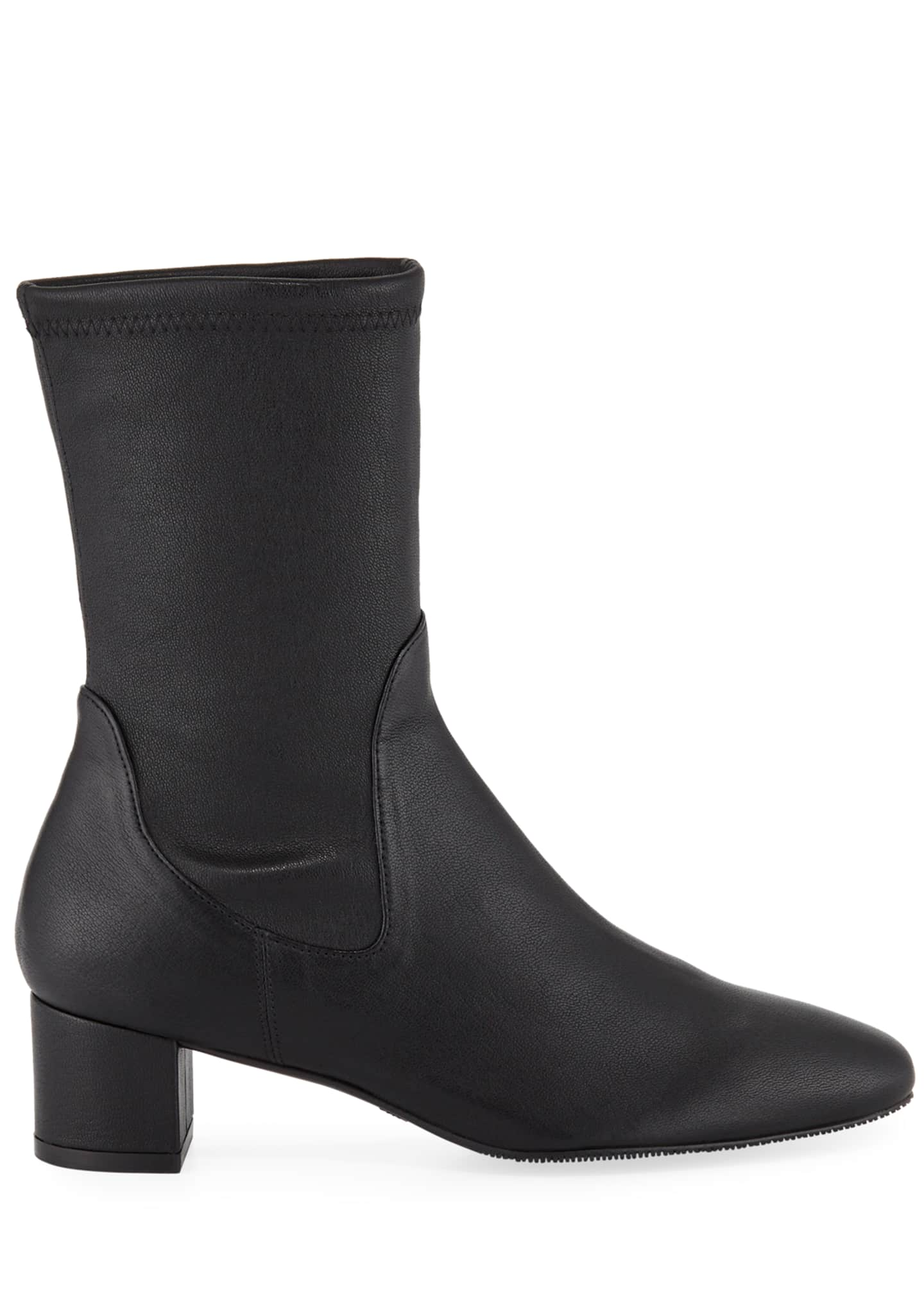 Image 2 of 3: Ernestine Stretch Leather 45mm Booties