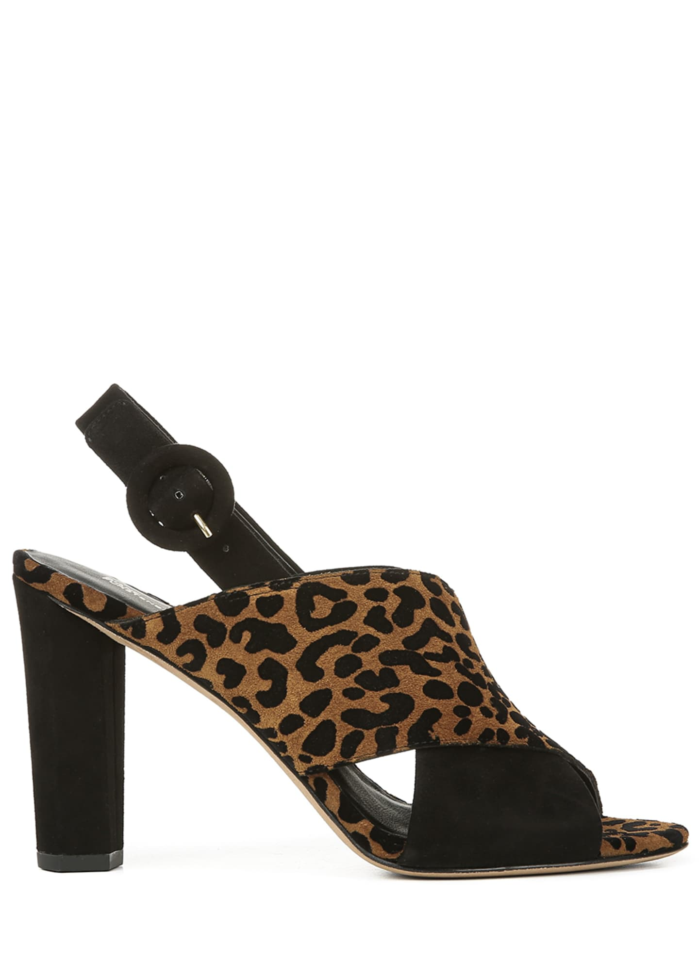 Image 2 of 4: Baile Two-Tone Leopard Sandals