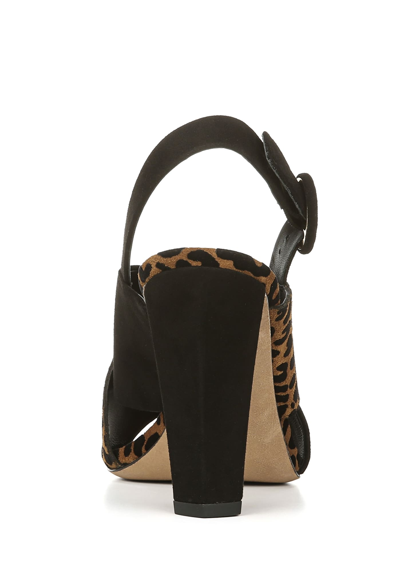 Image 3 of 4: Baile Two-Tone Leopard Sandals