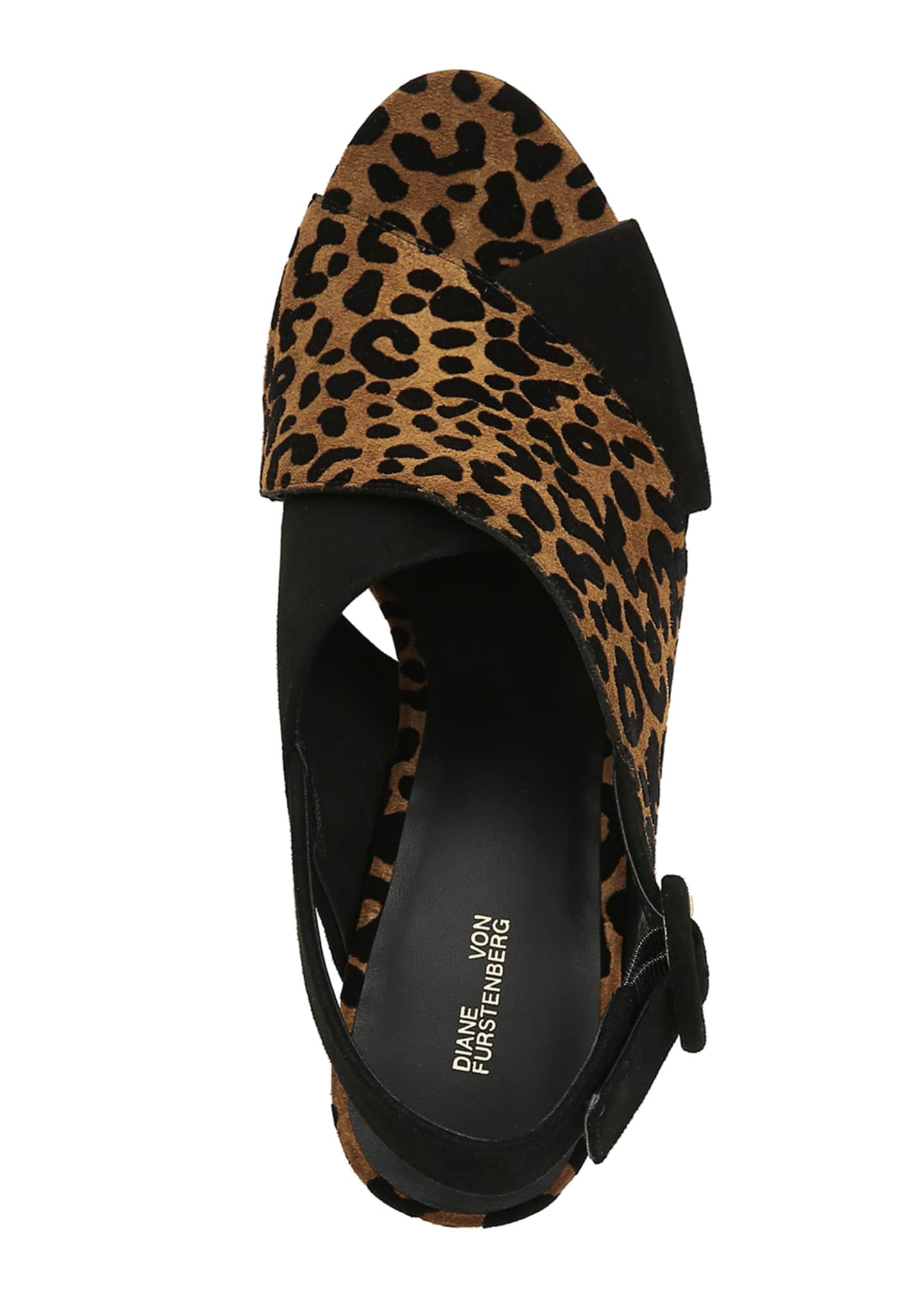 Image 4 of 4: Baile Two-Tone Leopard Sandals