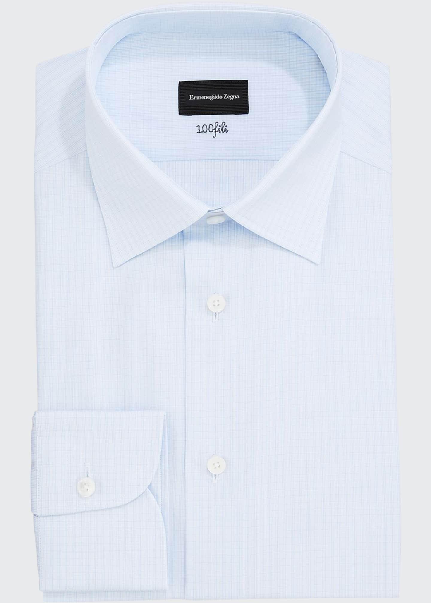 Ermenegildo Zegna Men's Tonal Check Dress Shirt