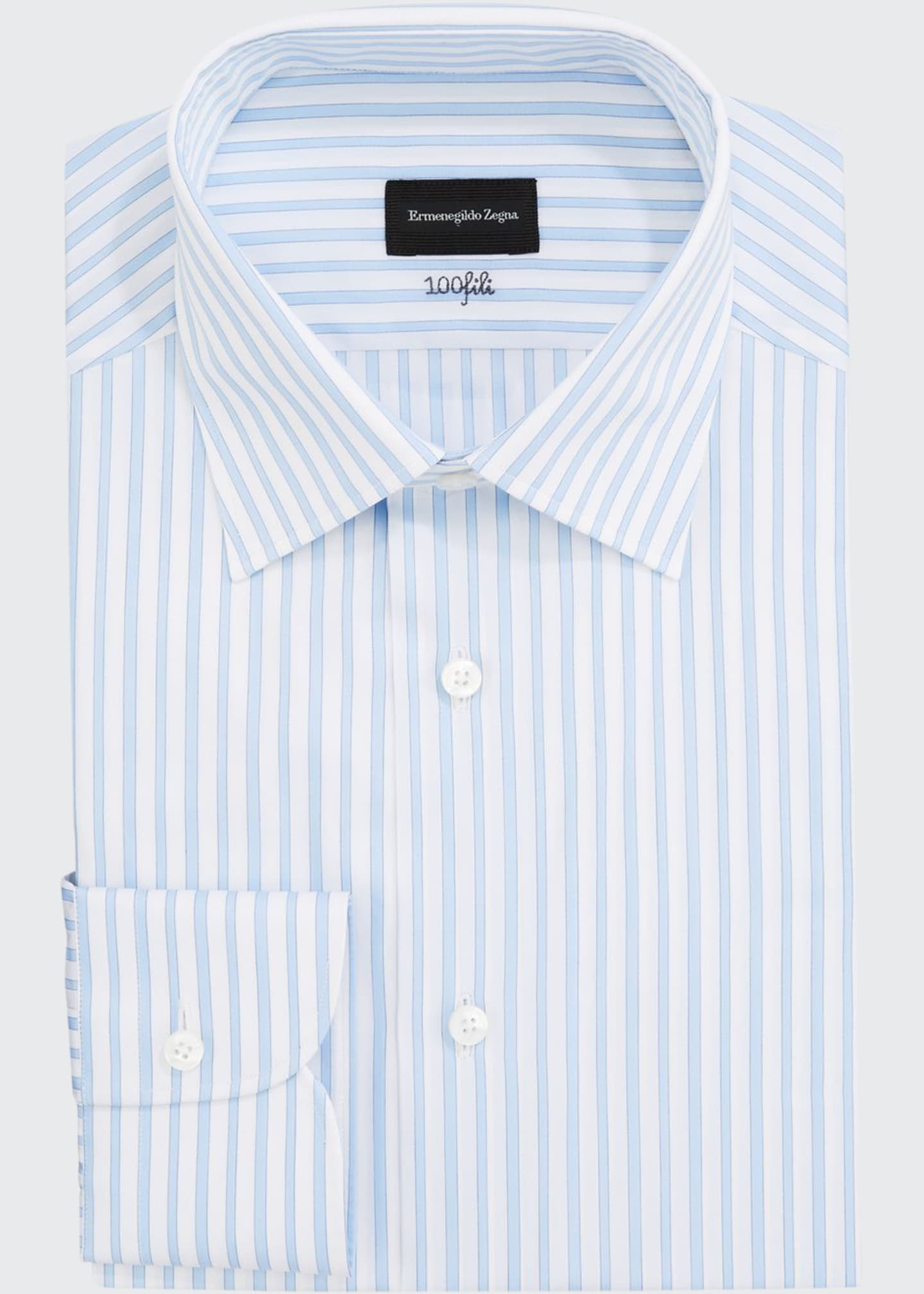 Ermenegildo Zegna Men's Bengal-Stripe Dress Shirt