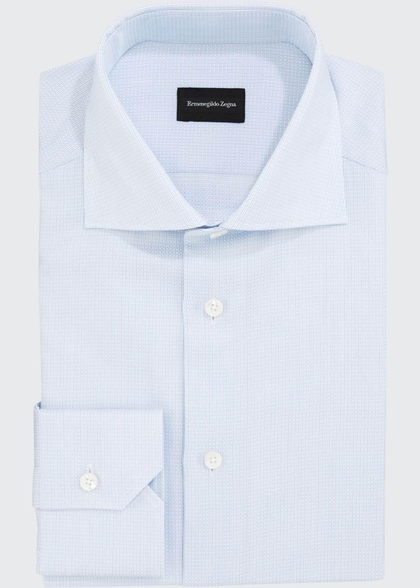 Ermenegildo Zegna Men's Structured Tic Dress Shirt