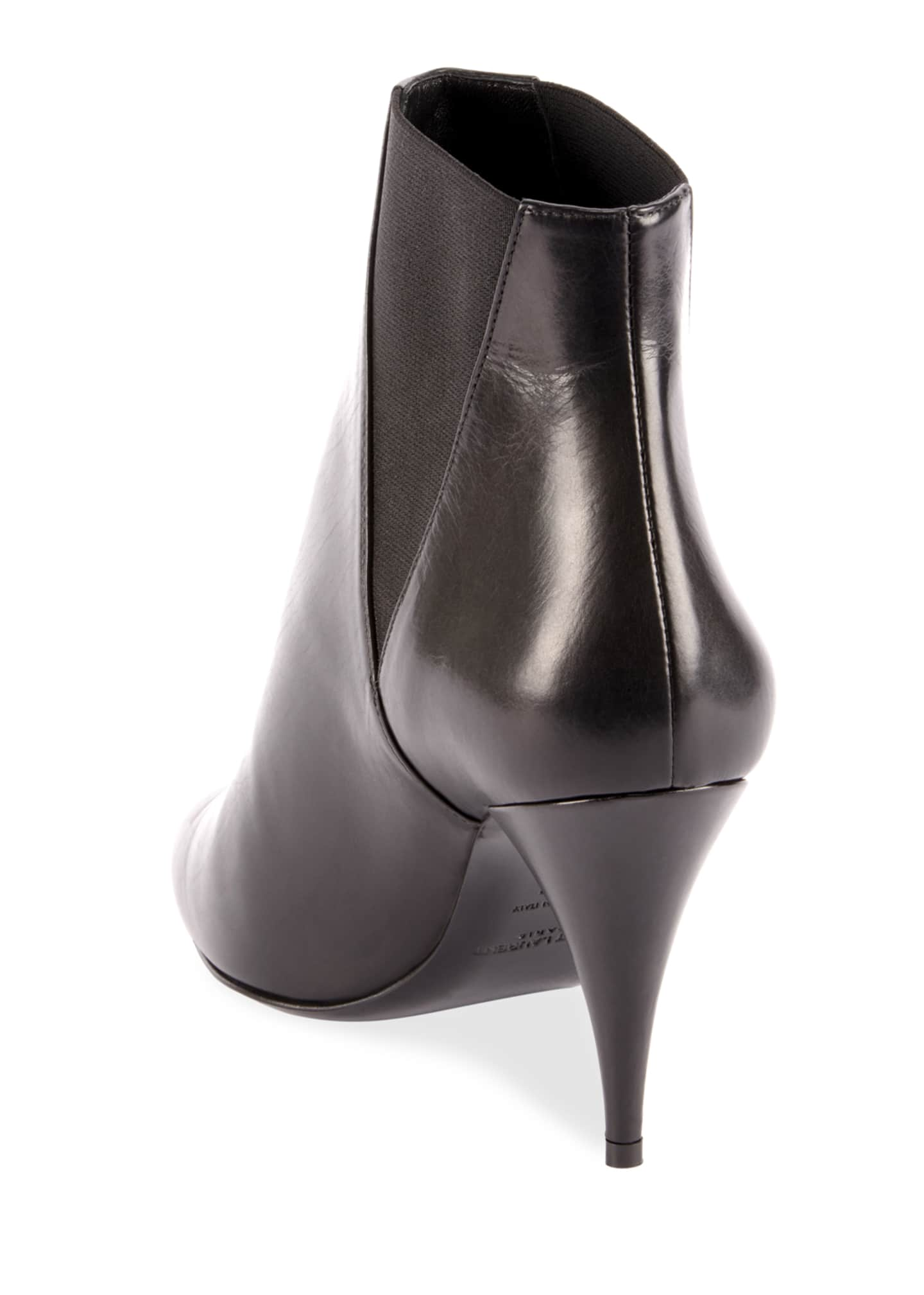 Image 4 of 4: Kiki Pointed Toe Leather Booties