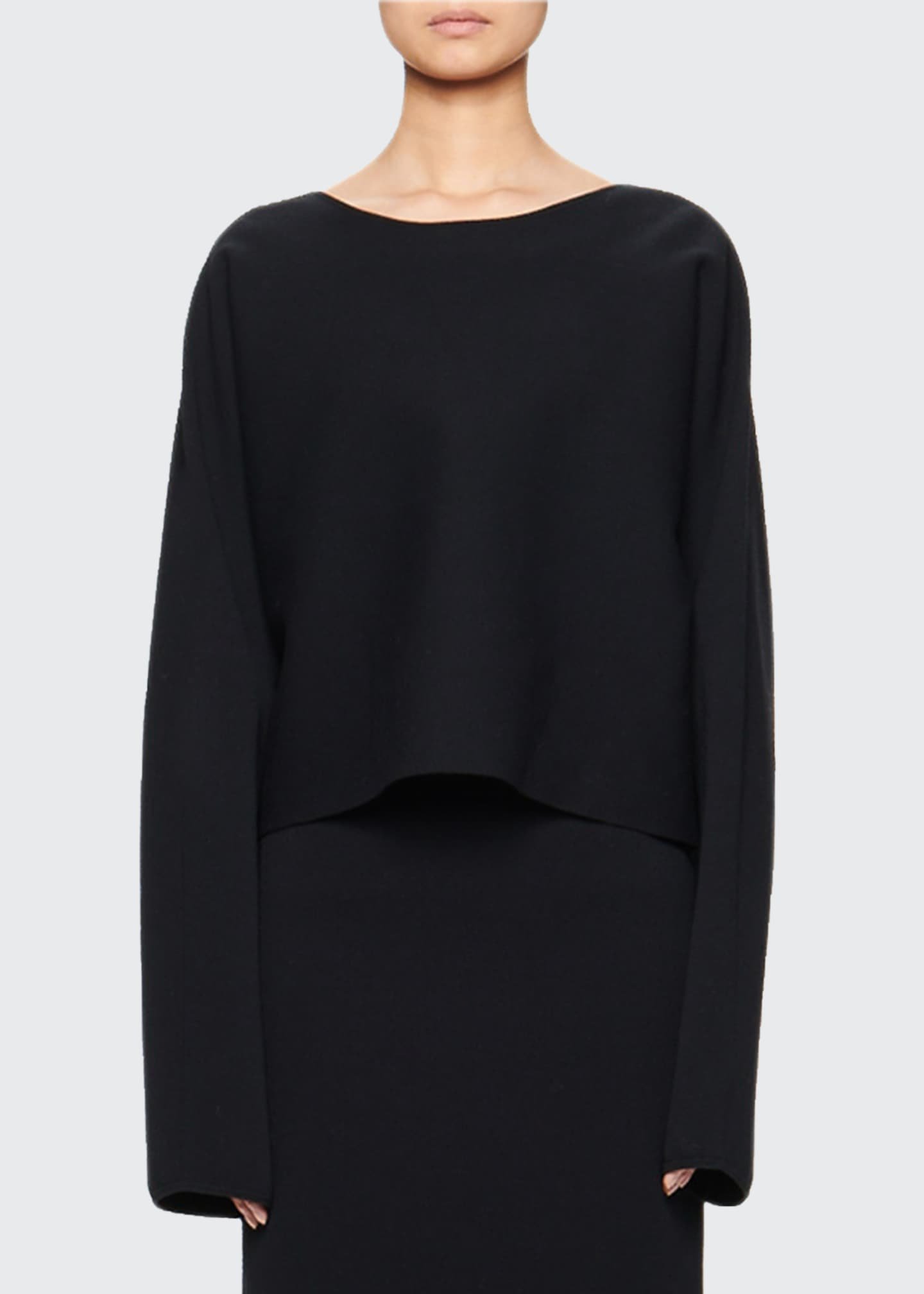 Image 1 of 2: Eli Cropped Long-Sleeve Top