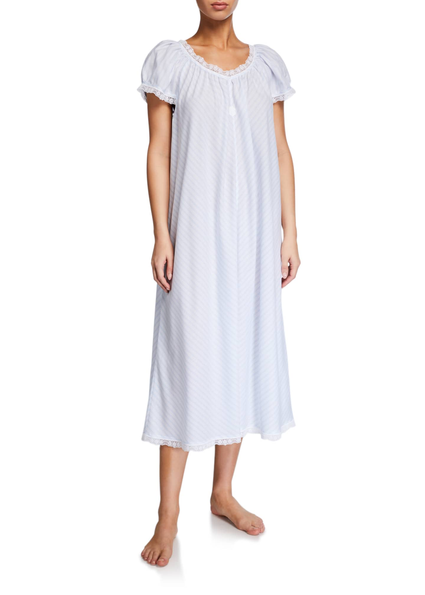 Celestine Lynn Cap-Sleeve Nightgown